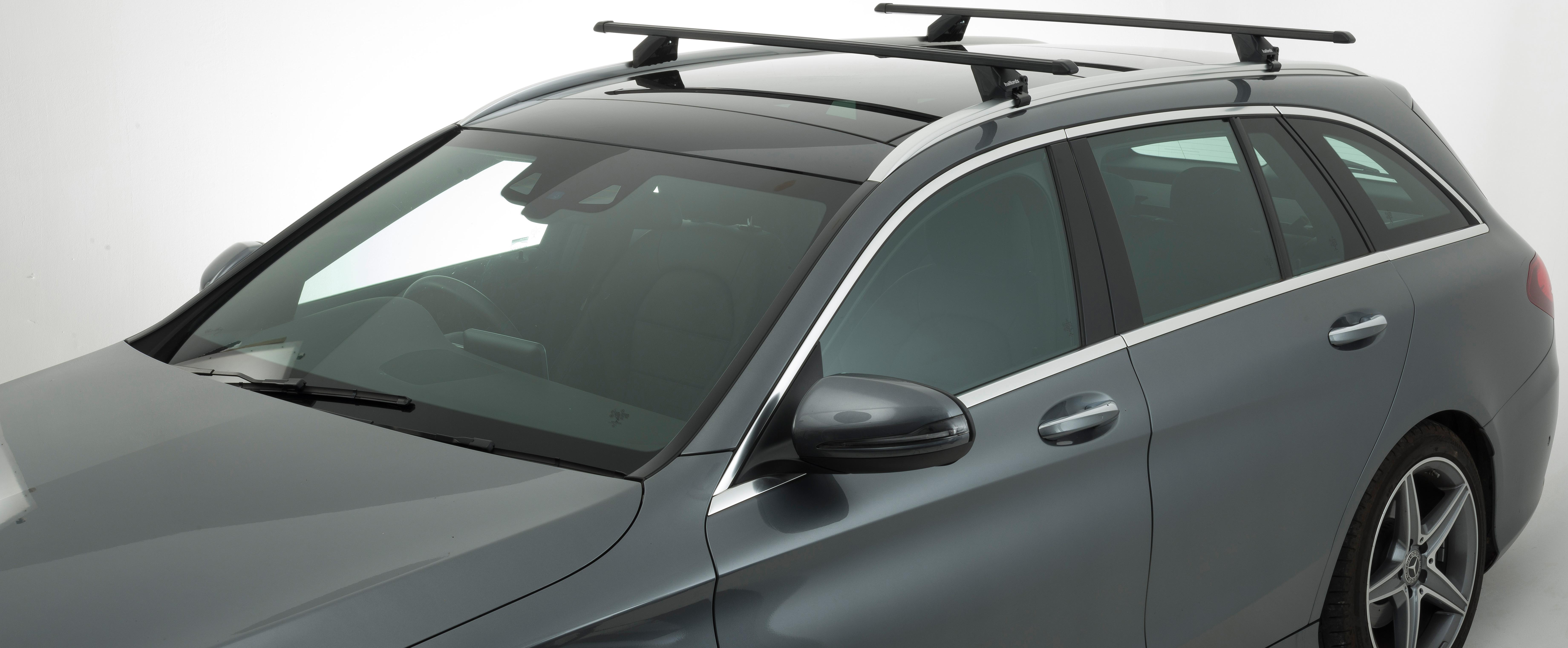 Halfords Integrated Rail Steel Preassembled X 2 Roof Bars