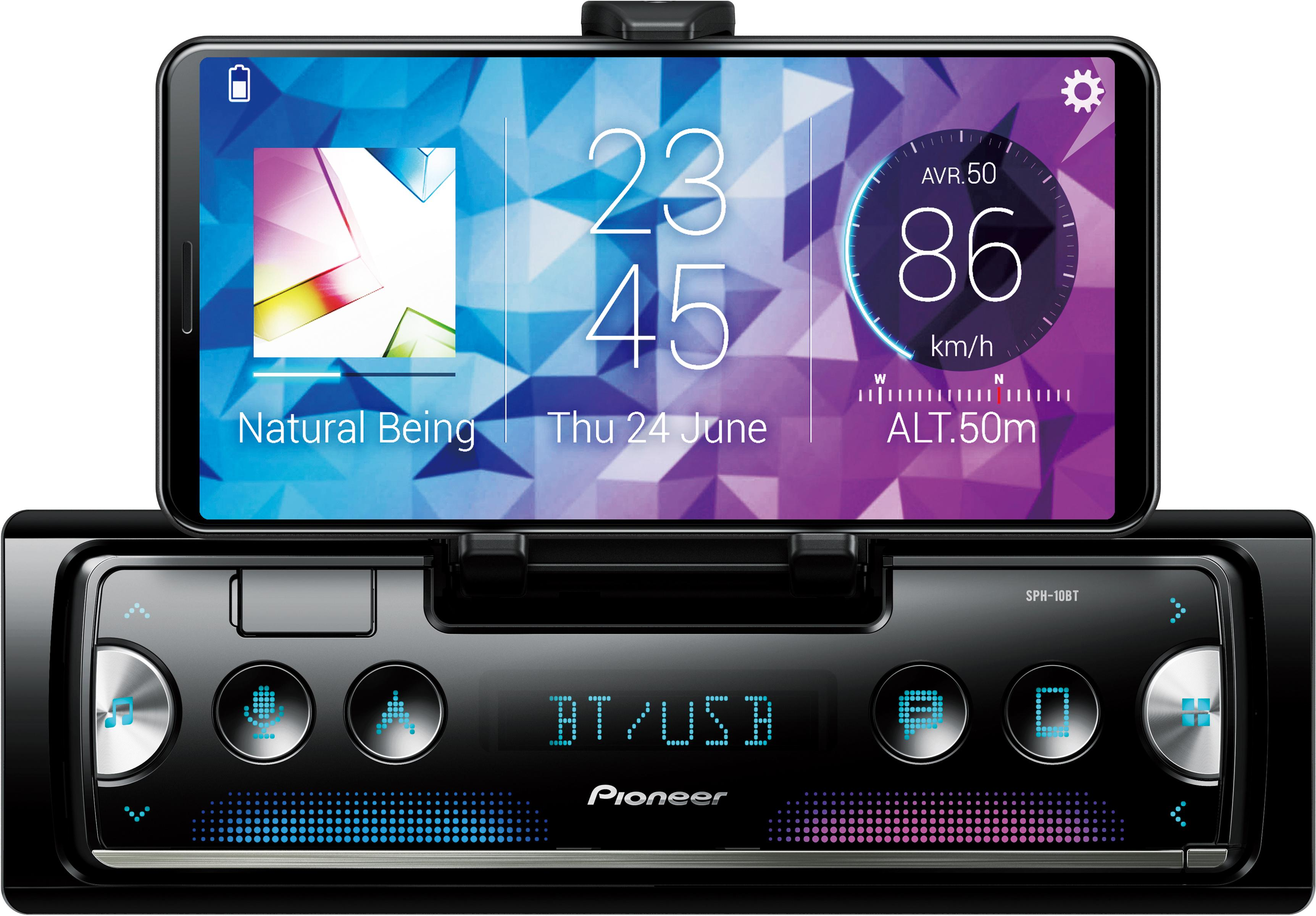 Pioneer-SPH-10BT-Smartphone-Ipod-Compatible-Receiver-USB-Bluetooth-Car-Audio