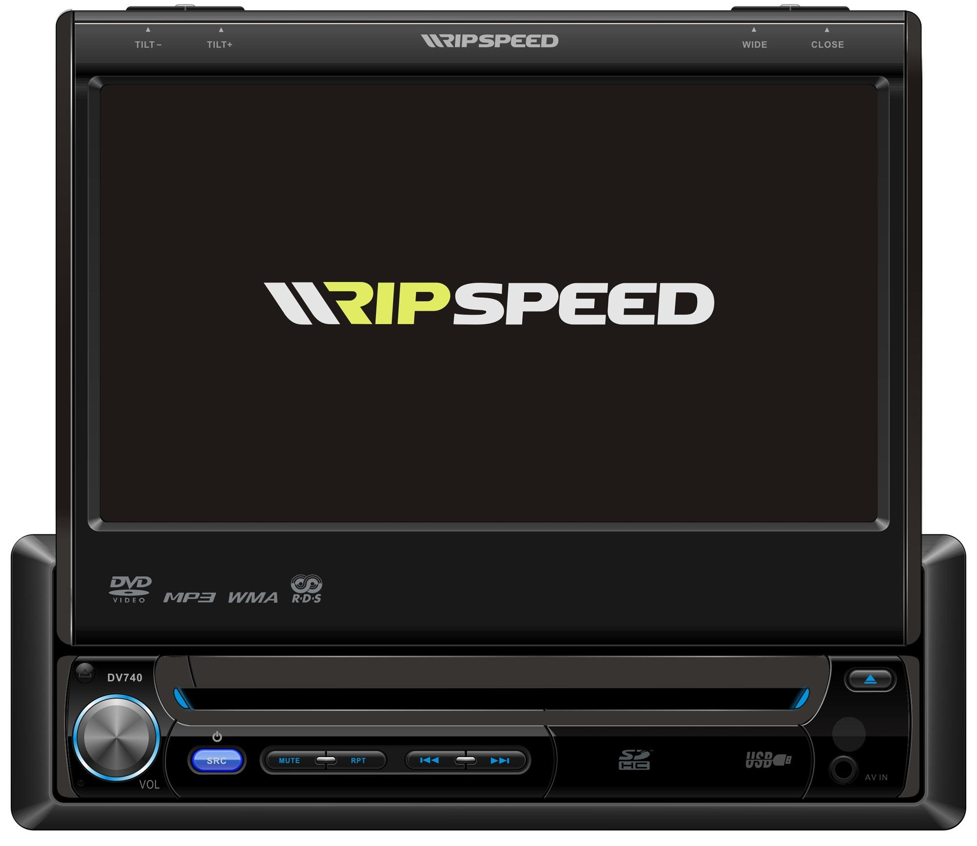 "Ripspeed DVD740 Single DIN 7"" In-Dash DVD MP3 Radio CD Player Car Stereo  USB 