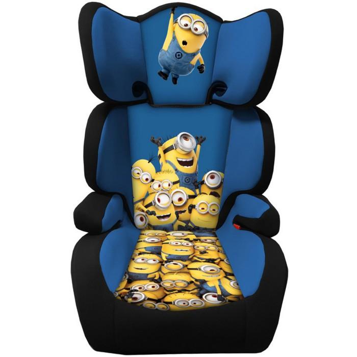 Minions Kids Boys Girls High Back Booster Car Seat Group 23 15 36kg 3 12 Yrs