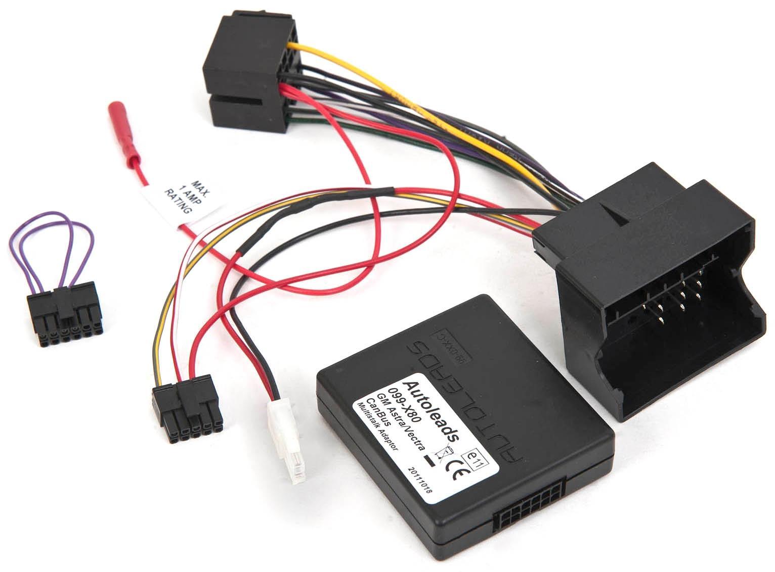 Autoleads PC99-X80 CANbus Car Steering Wheel Stalk Adaptor Vehicle Lead  Vauxhall 5032296000315 | eBay