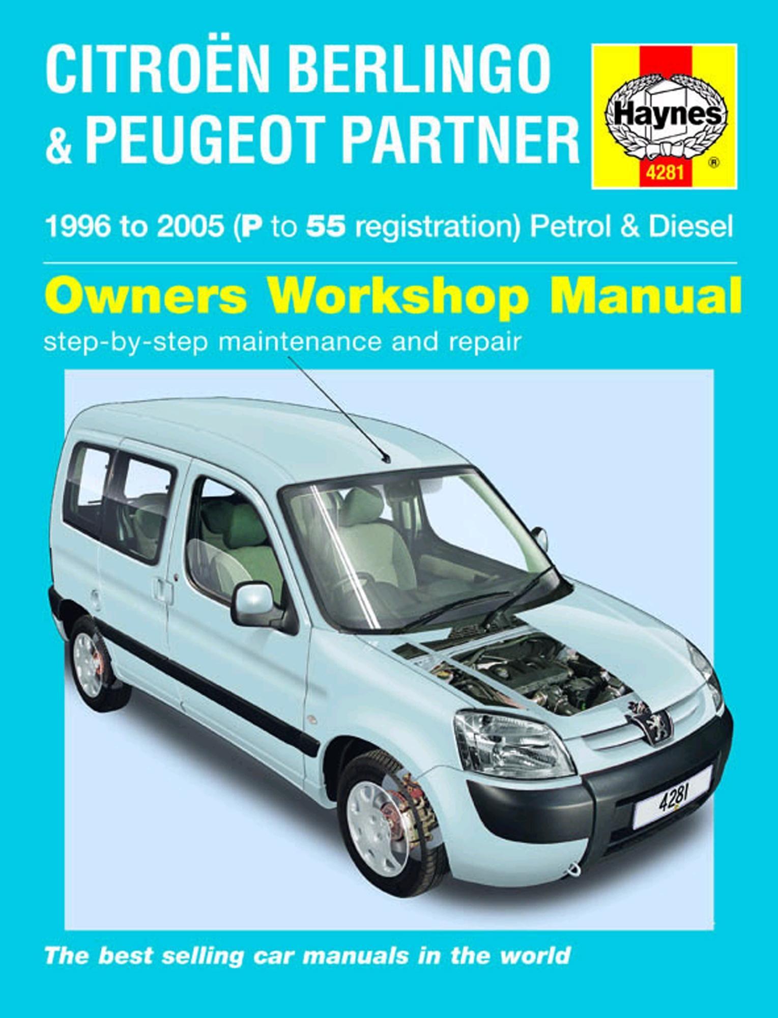 Haynes Owners Workshop Manual Citroen Berlingo Peugeot Partner 1996-2005  Repair