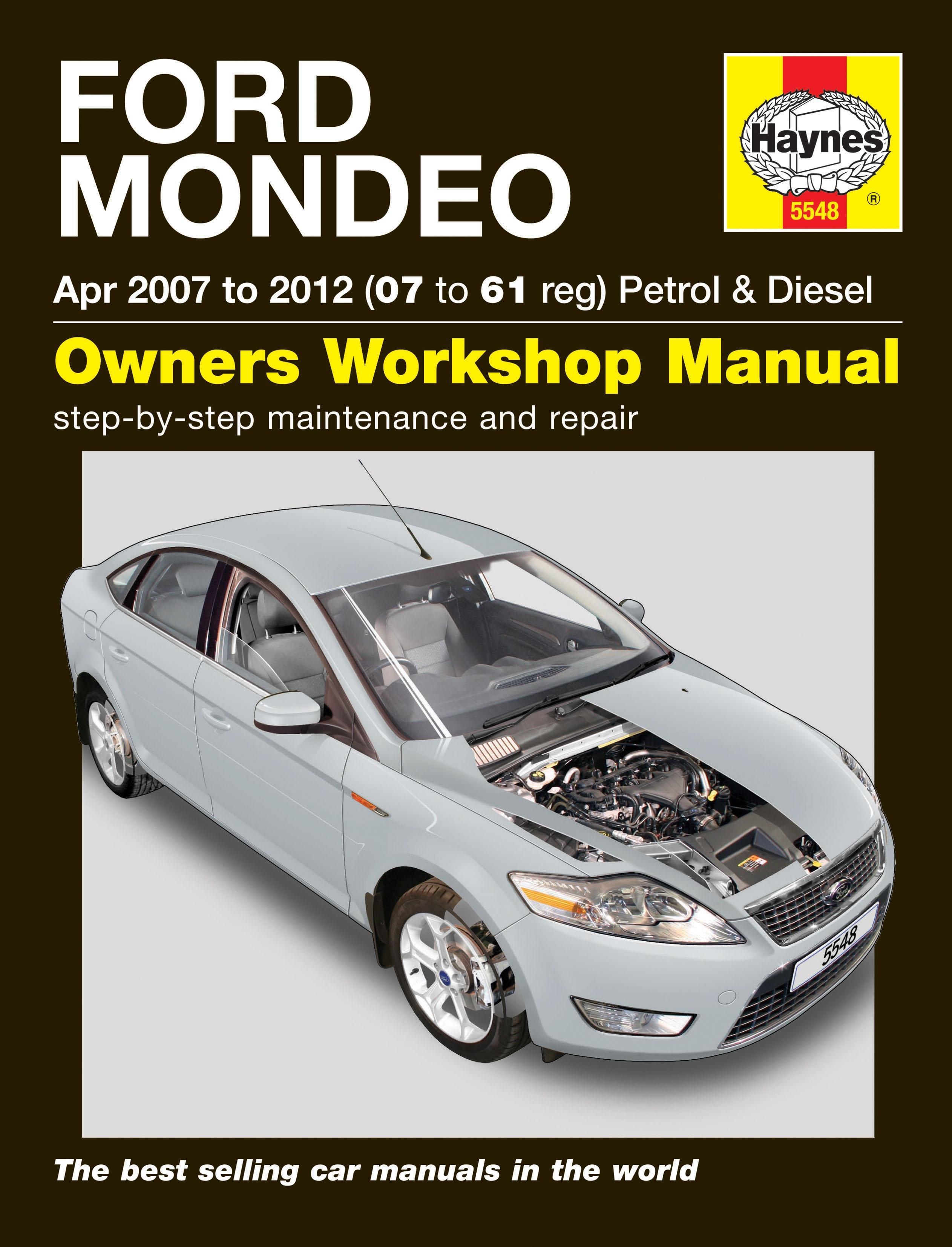 haynes owners workshop manual ford mondeo 2007 2012 petrol diesel maintenance ebay. Black Bedroom Furniture Sets. Home Design Ideas