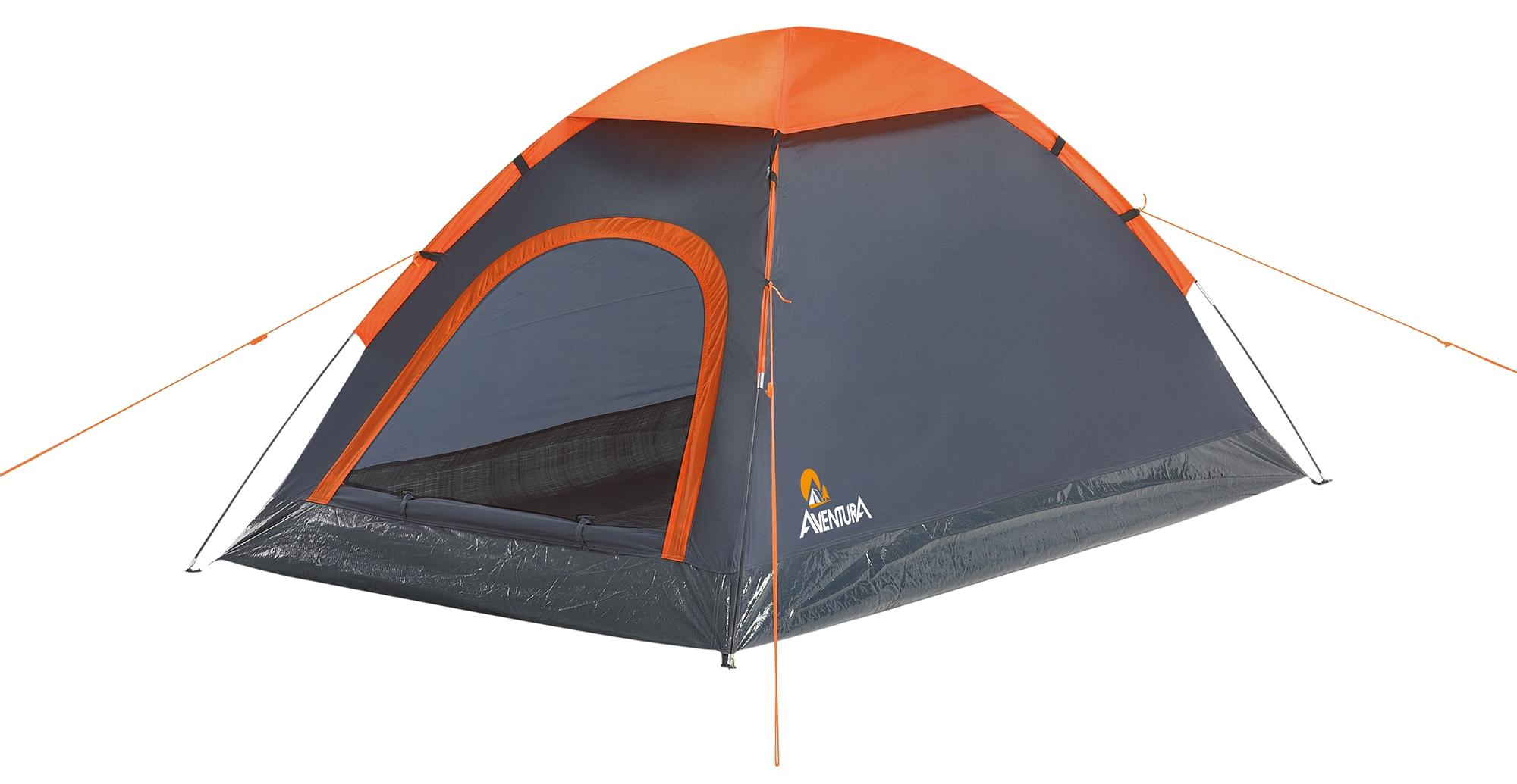 Aventura 2 Man Tent - 1 Bedroom 1 Door Single Skin Dome Style in Grey u0026 Orange 5051762339049 | eBay  sc 1 st  eBay & Aventura 2 Man Tent - 1 Bedroom 1 Door Single Skin Dome Style in ...