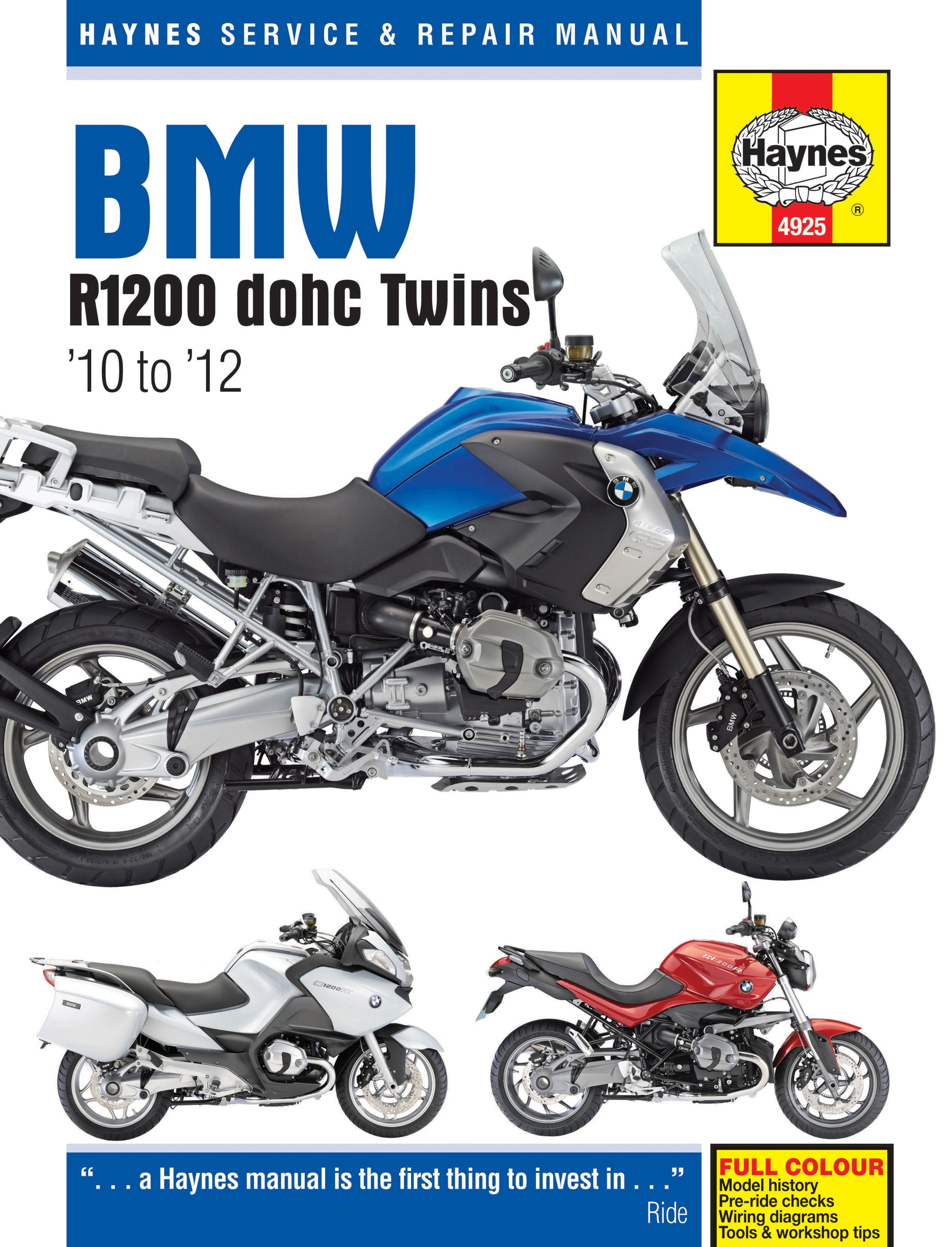 Awe Inspiring Haynes Bmw R1200 Dohc Twins 2010 2012 Motorcycle Motorbike Workshop Wiring Database Denligelartorg