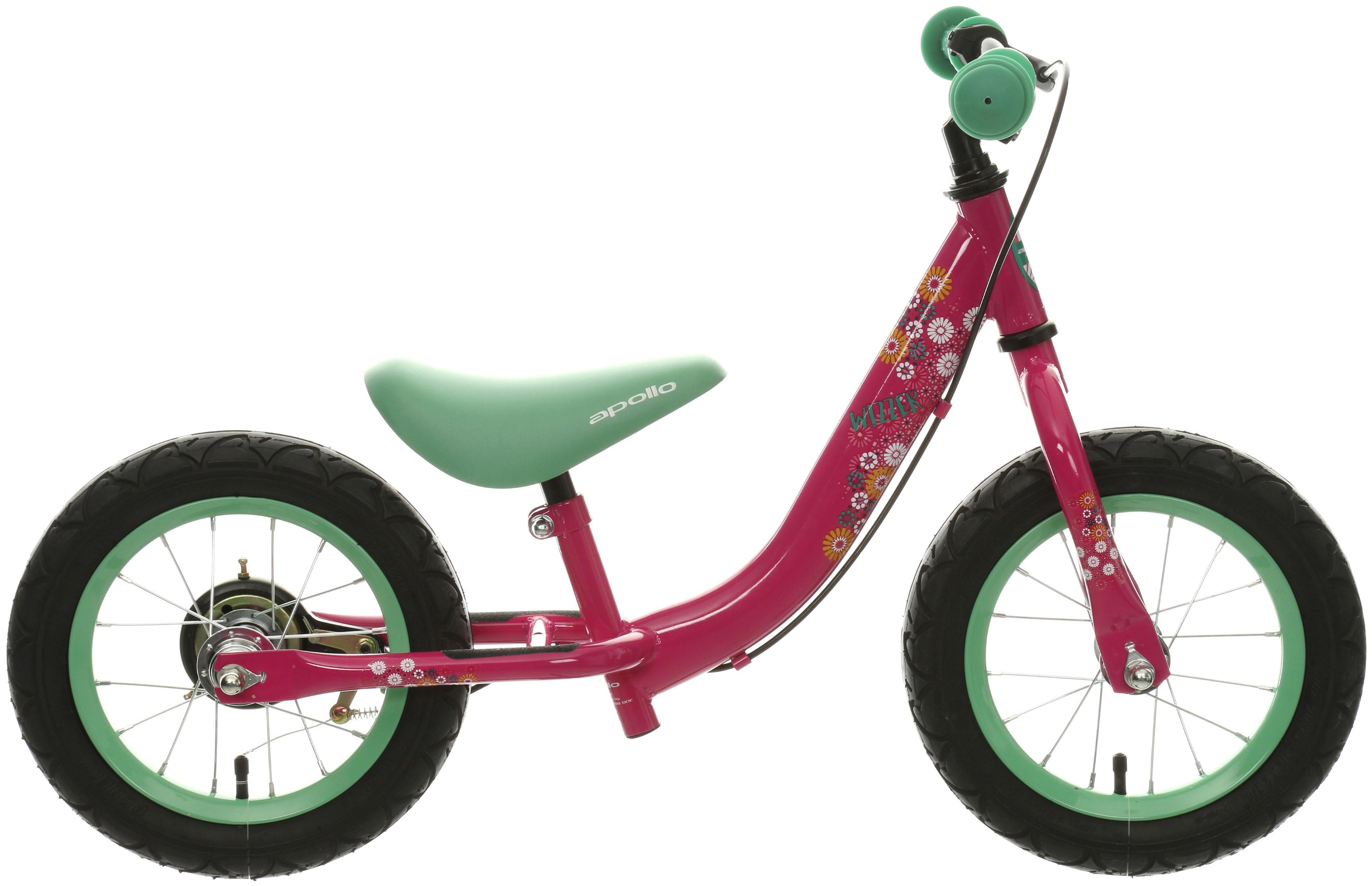 Apollo Wizzer Girls Balance Bike Bicycle Pink 12-3957