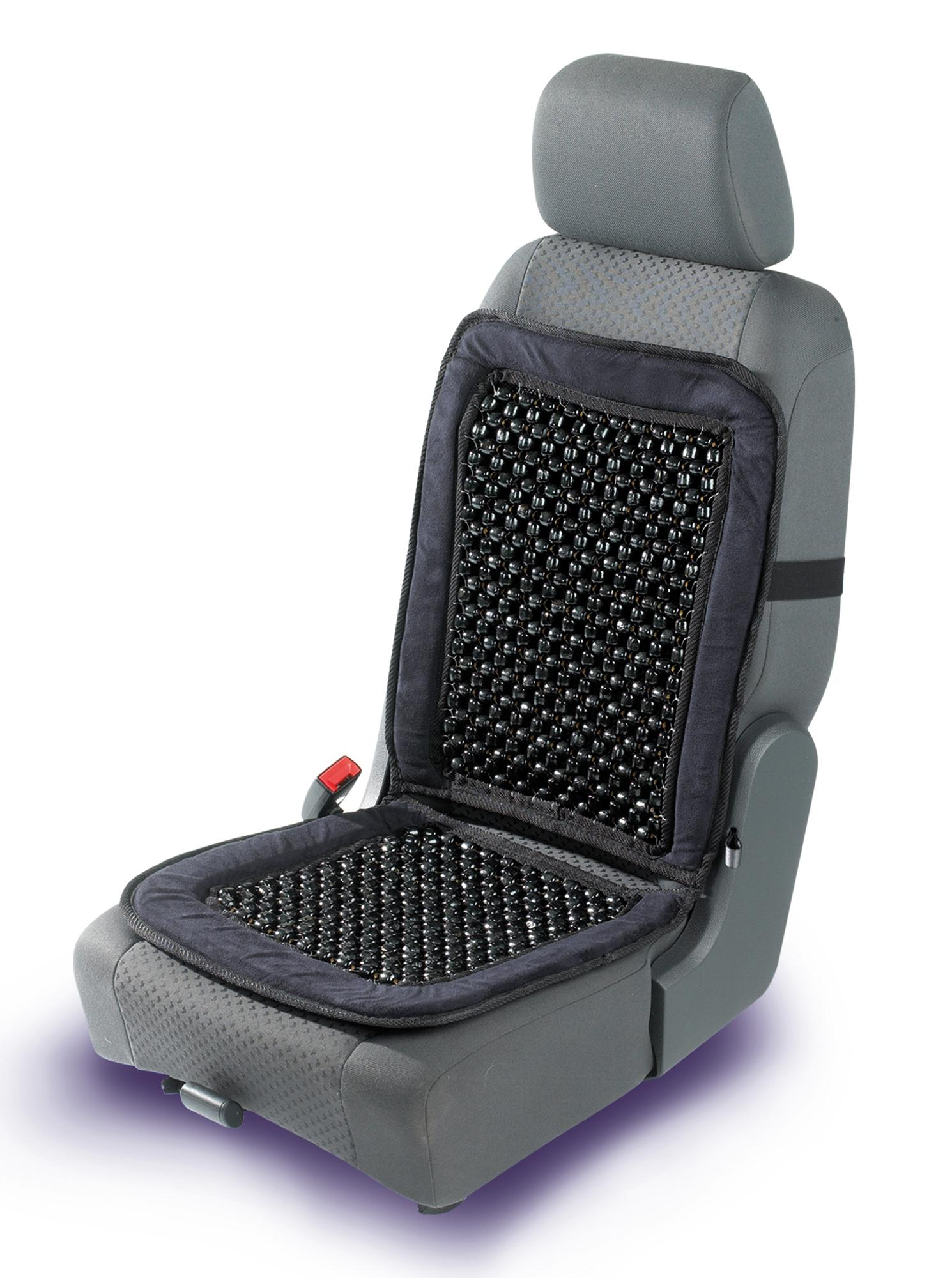 Halfords Beaded Seat Cushion Back Support Pain Relief Car Cover