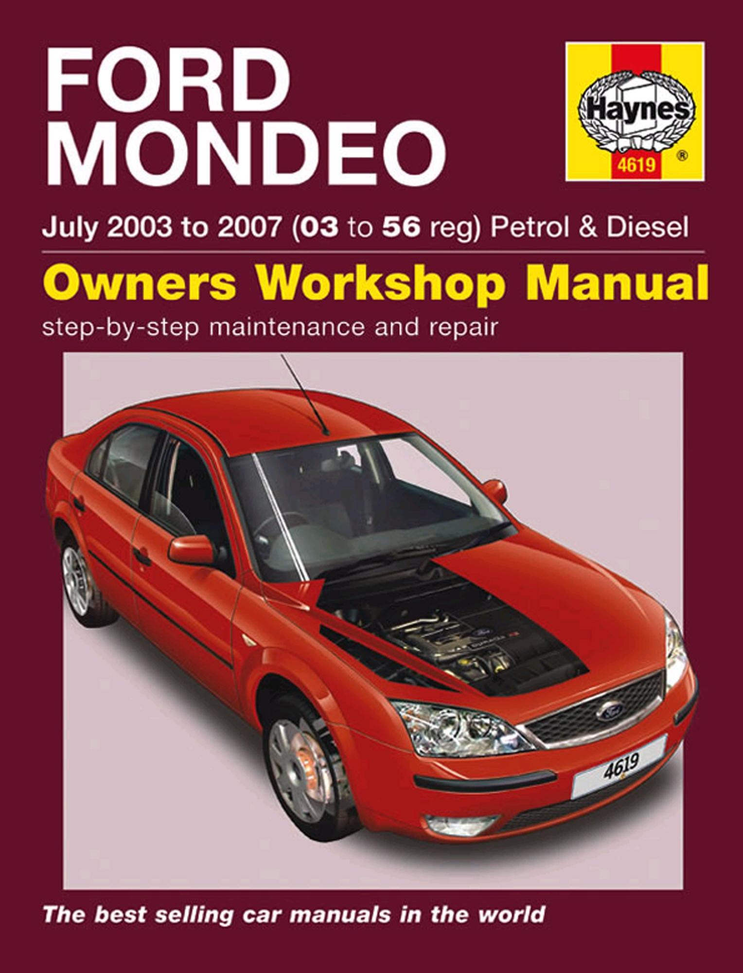 Haynes Owners Workshop Manual Ford Mondeo July 2003 - 2007 Petrol Diesel  Repair