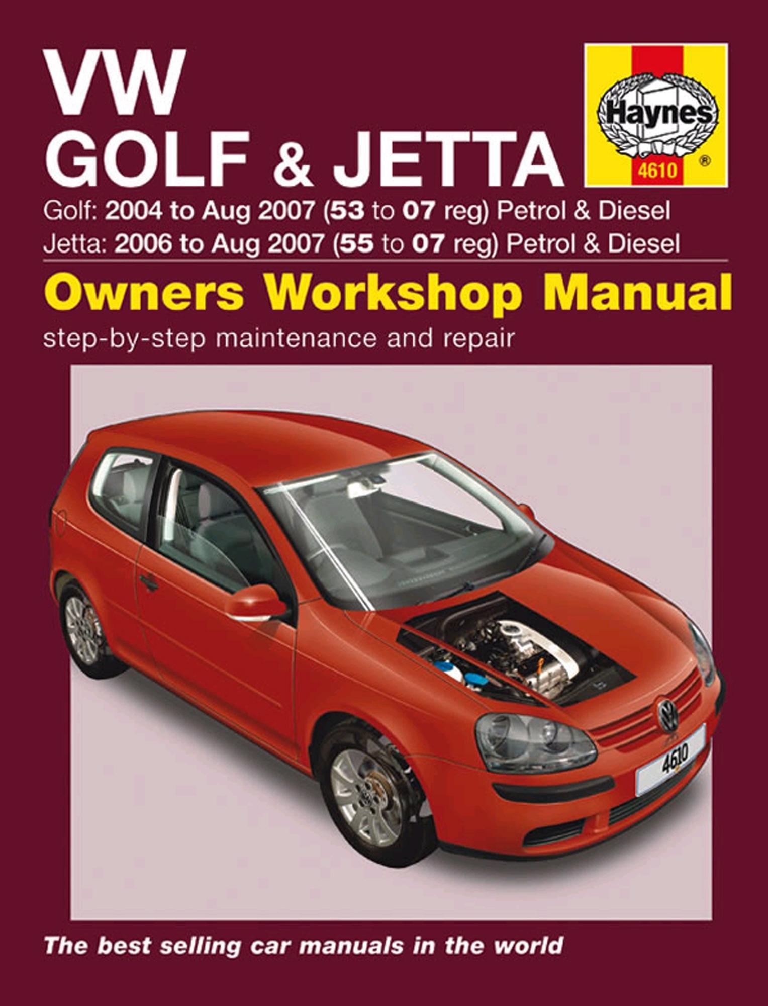 Haynes Owners Workshop Manual VW Golf 2004-2009 Jetta 2006-2009 Petrol  Diesel