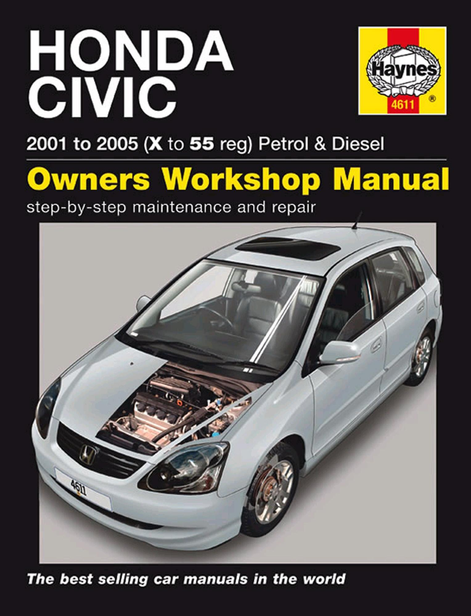 Haynes Owners Workshop Manual Honda Civic 2001-2005 Petrol Diesel  Maintenance