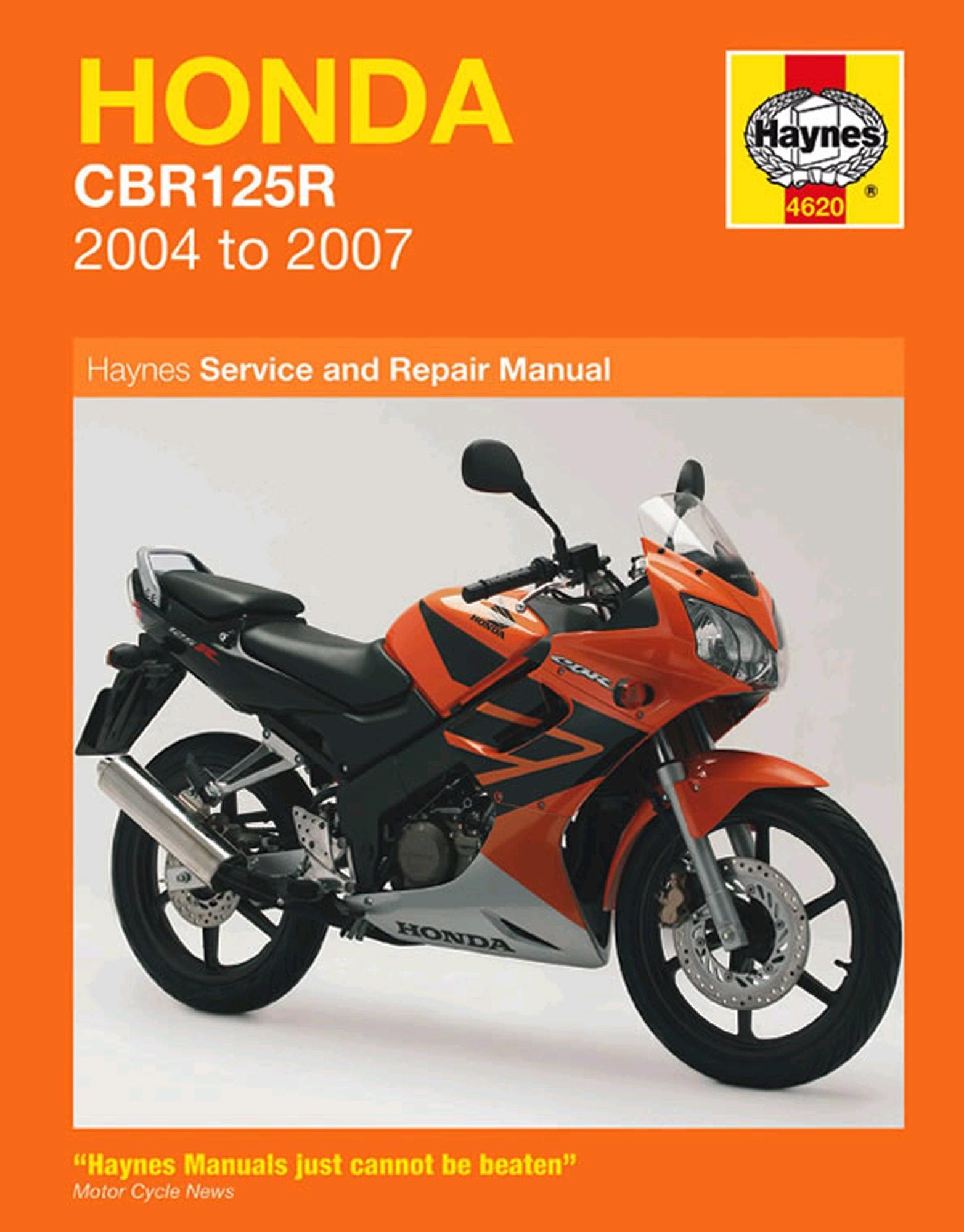 Haynes Service Repair Manual Honda CBR125R 2004 - 2007 Motorcycle  Maintenance