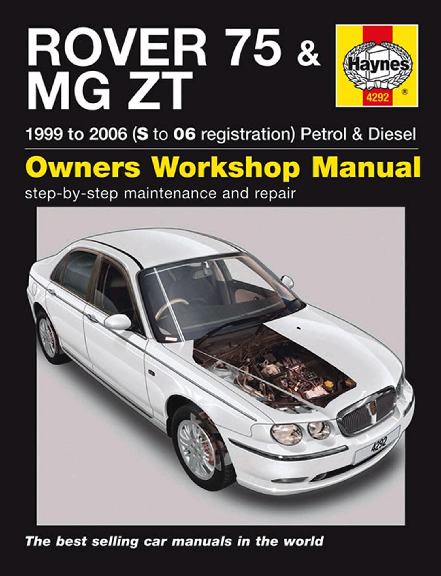 haynes owners workshop manual rover 75 mg zt 1999 2006 petrol diesel rh ebay co uk mg zt owners handbook mg zt owners handbook