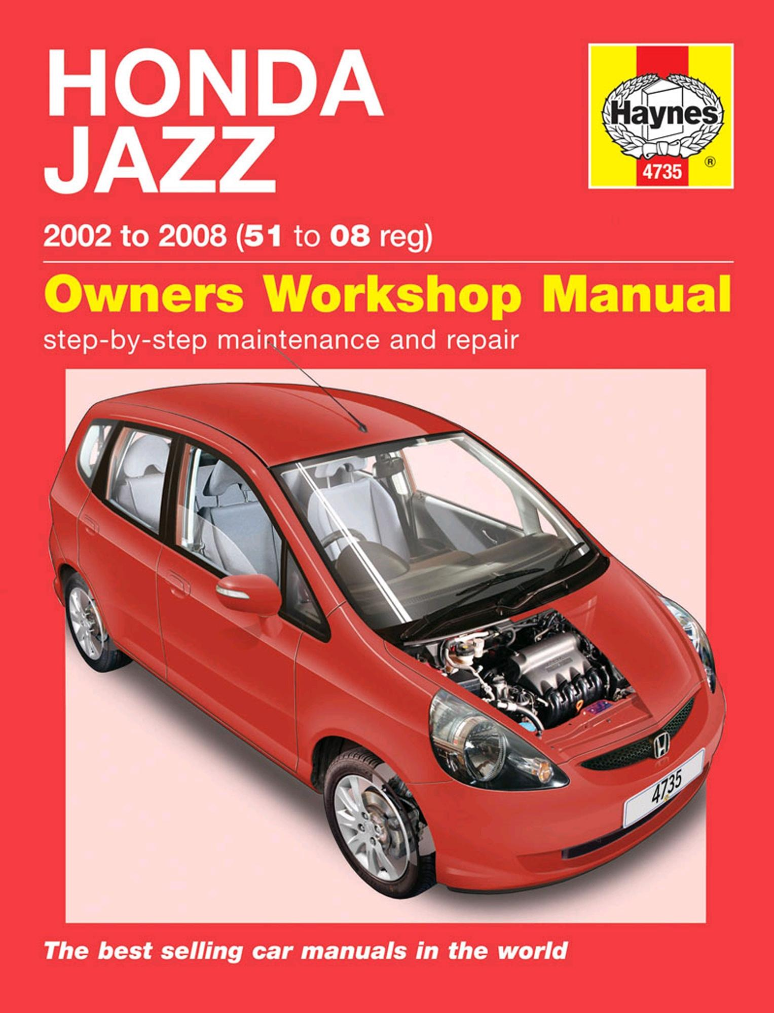 Haynes Owners Workshop Manual Honda Jazz 2002-2008 Petrol Maintenance Repair
