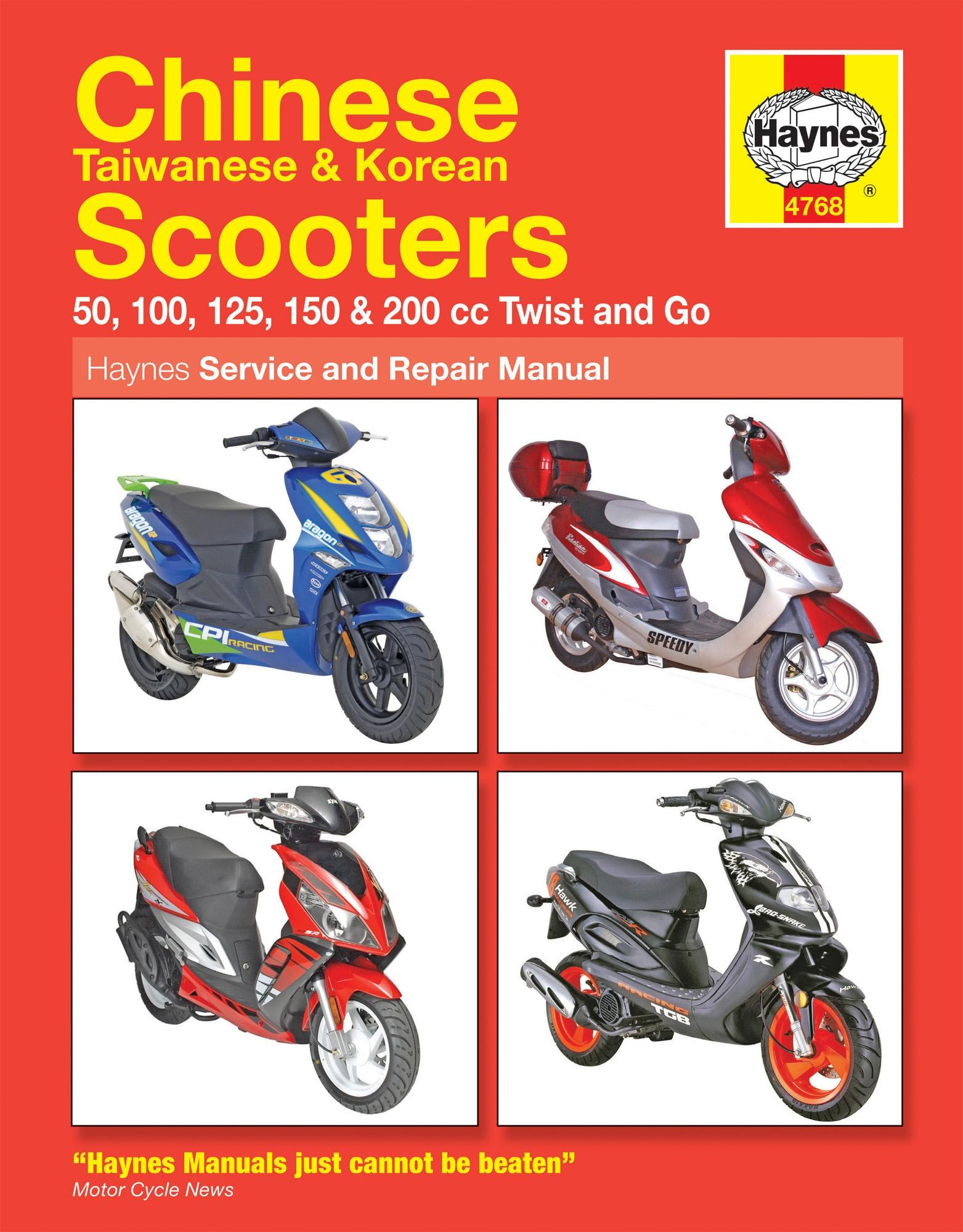 Details about Haynes Service Repair Manual Chinese Taiwanese Korean Scooters  2 4 Stroke Engine