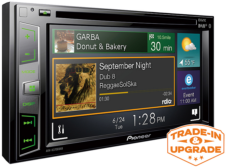 Pioneer Touch Screen Car Stereo Cd Dvd Player Radio Ipod