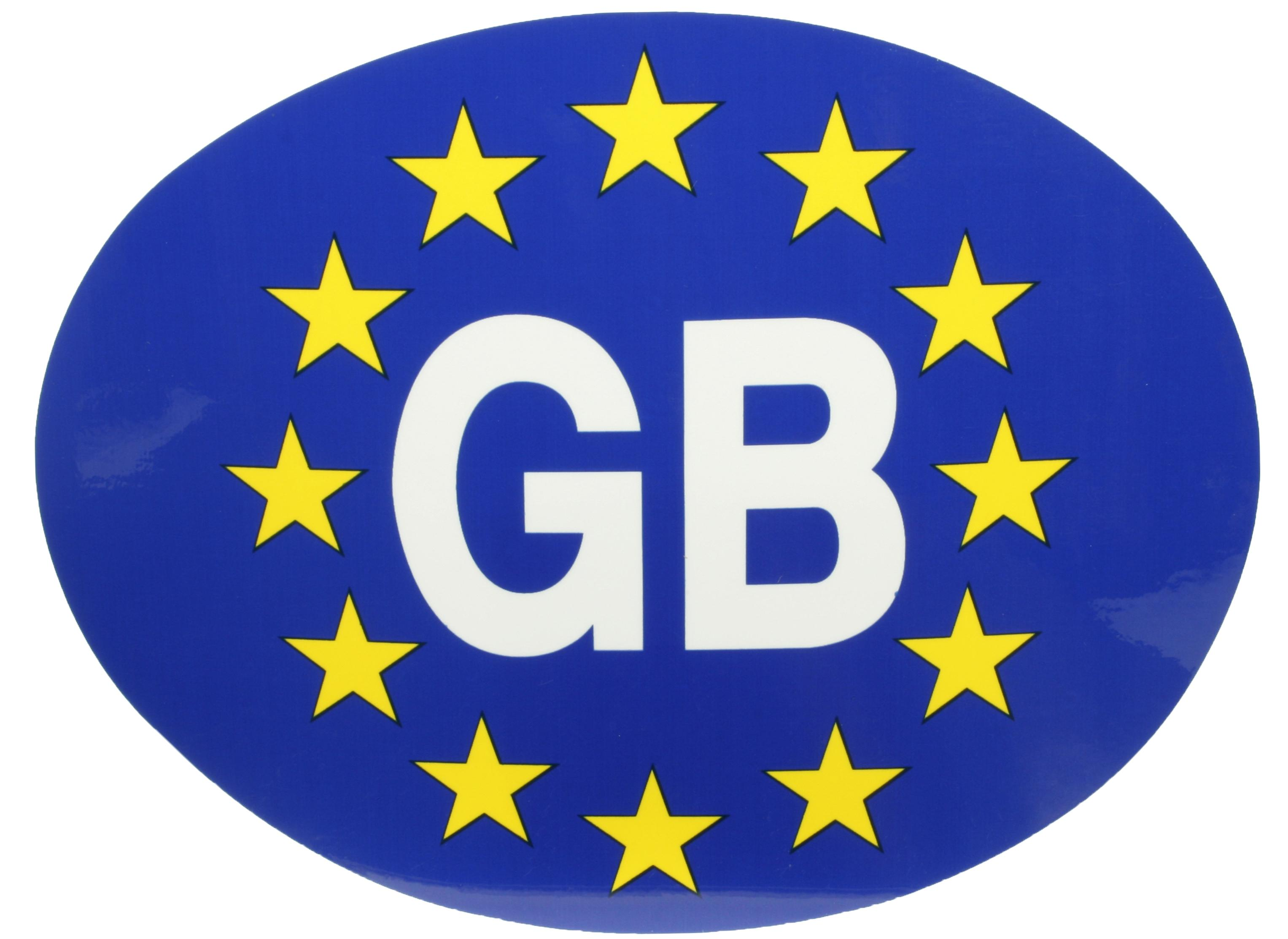 Details About Halfords Gb Great Britain European Car Sticker Oval Self Adhesive Exterior Road