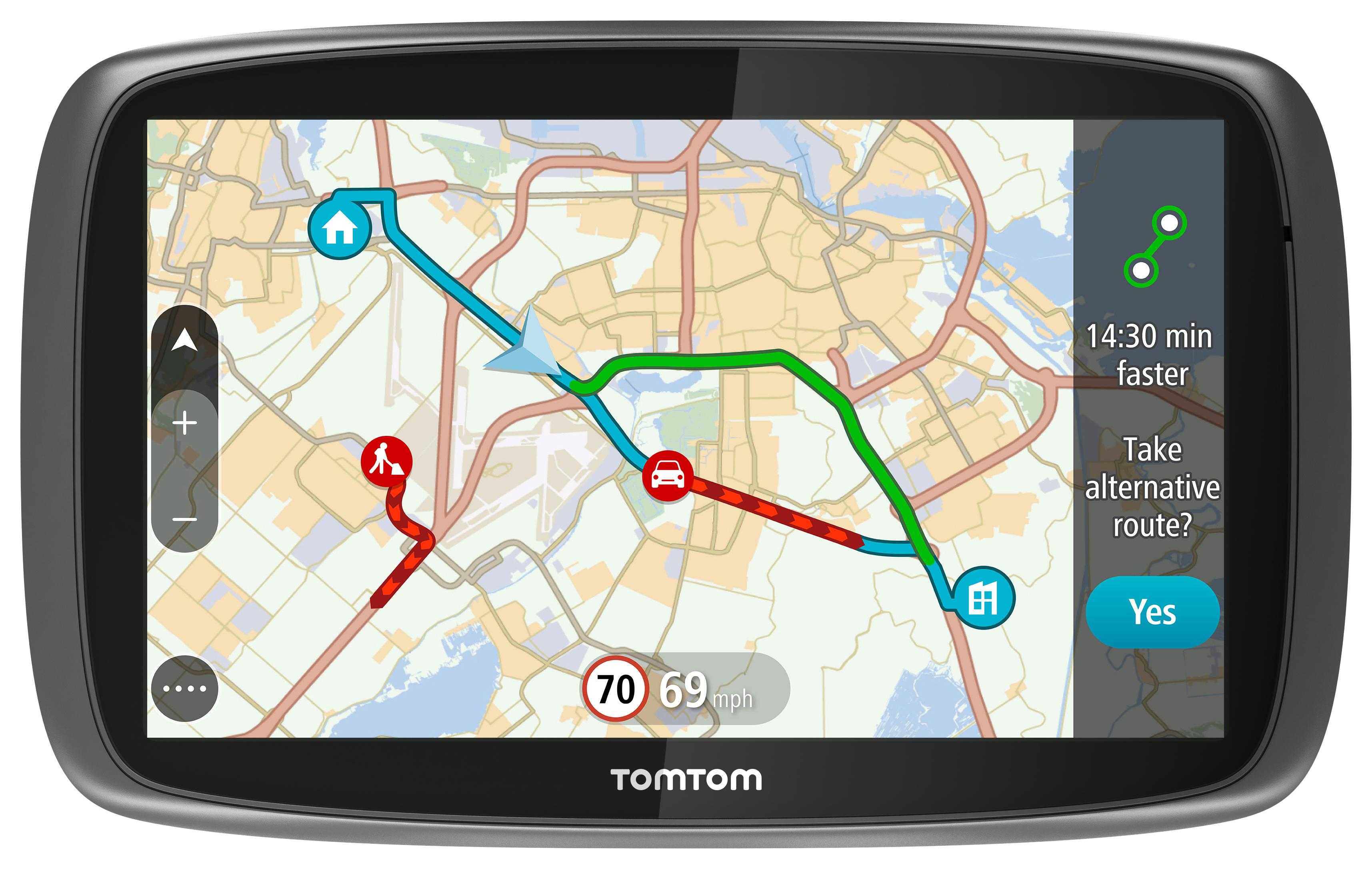 Navigation World Map.Tomtom Go 6100 6 Sat Nav Gps Navigation Mydrive Lifetime Traffic