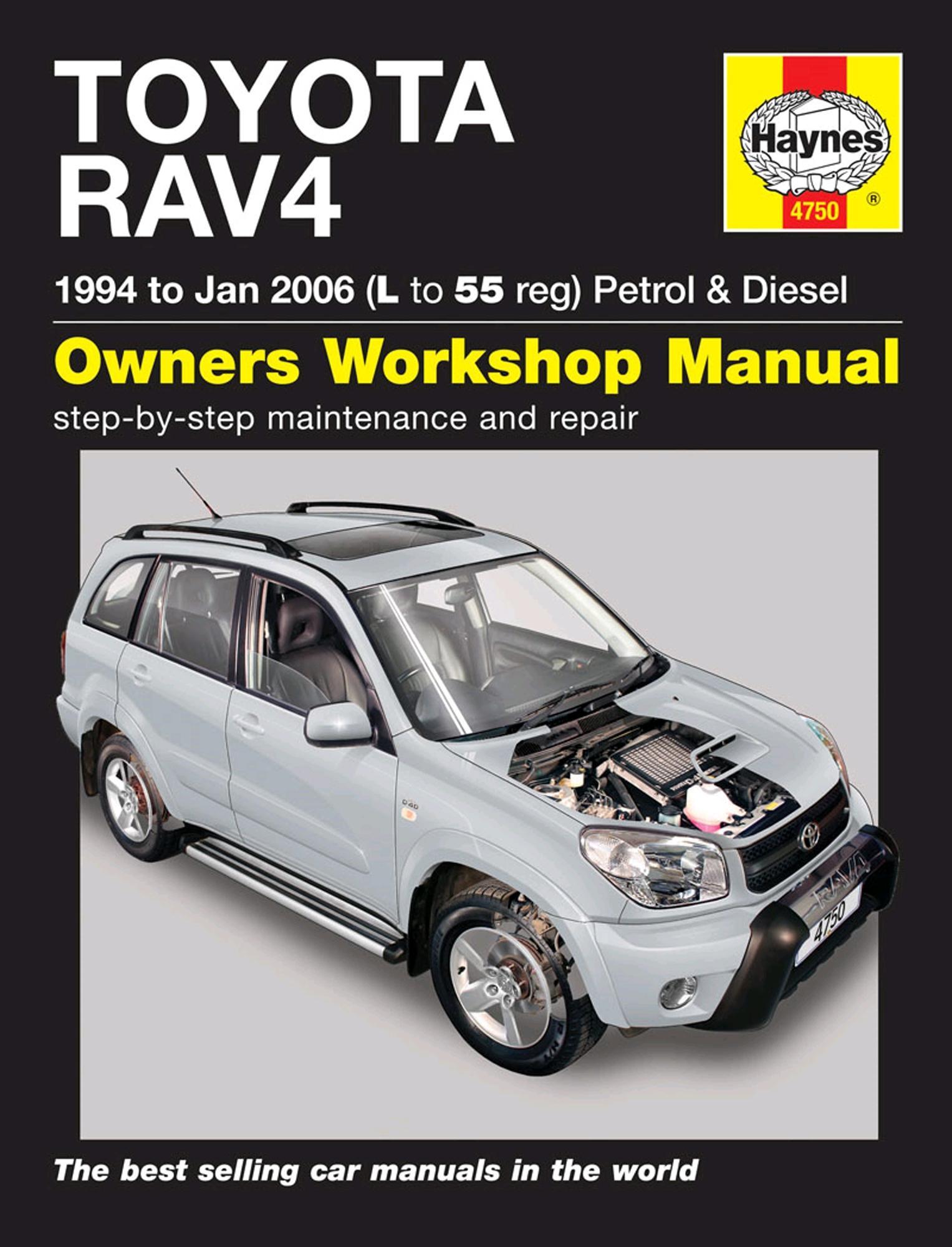 Haynes Owners Workshop Manual Toyota RAV4 1994-2006 Petrol Diesel  Maintenance