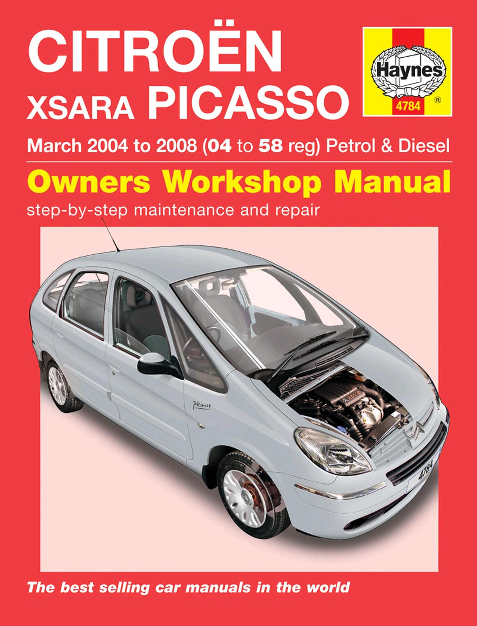 Haynes Owners Workshop Manual Citroen Xsara Picasso 2004-2008 Petrol Diesel
