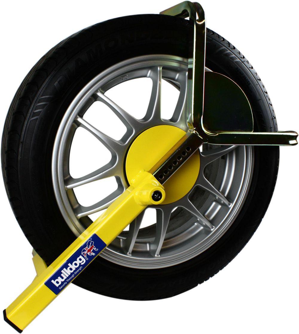 Bulldog High Security Wheel Clamp Car Caravans Trailers Anti Theft Safety Lock