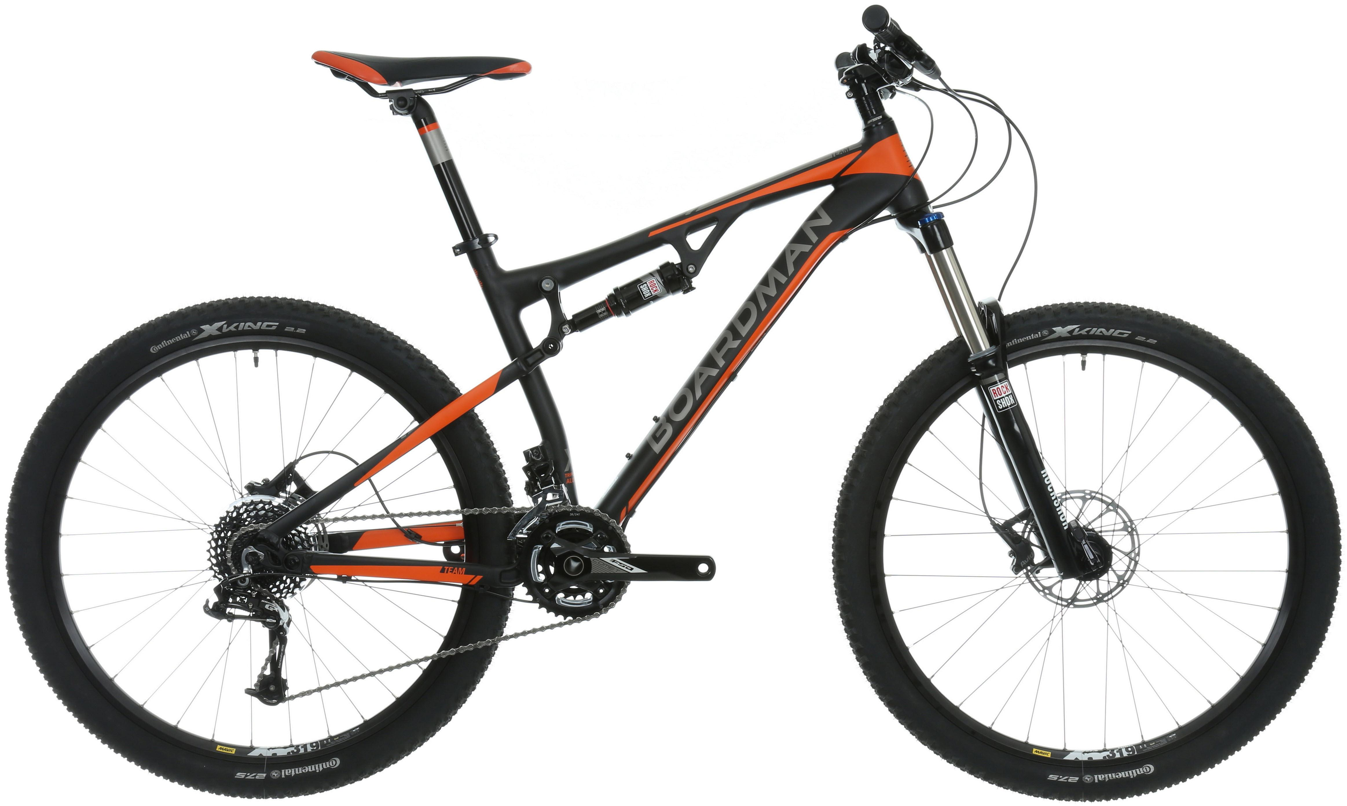 Boardman Mountain Bike Team MTB Alloy Frame Full Suspension 27.5 ...