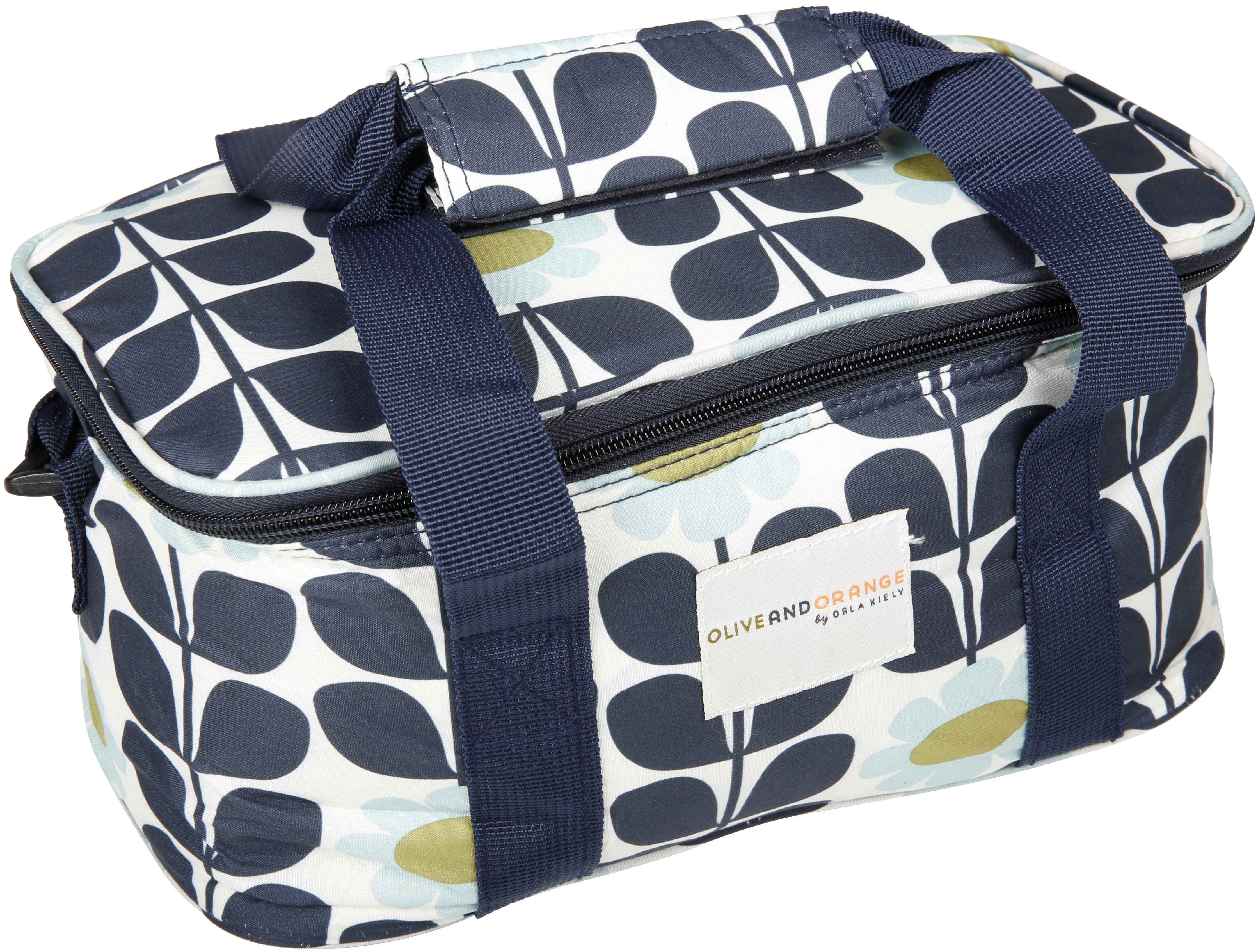 Orla Kiely Vintage Camping Garden Picnic 6l Cool Cooler Bag Box Tall Clutch Black