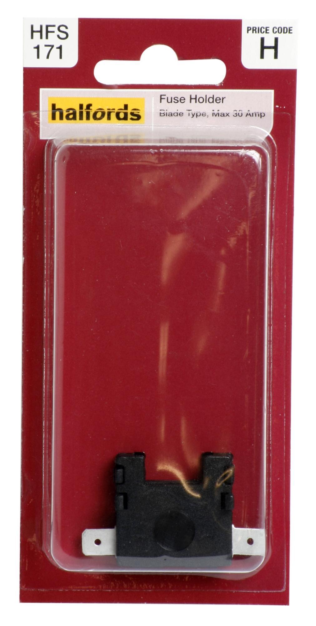 halfords blade fuse holder 30 amp black vehicle car electrical rh ebay co uk