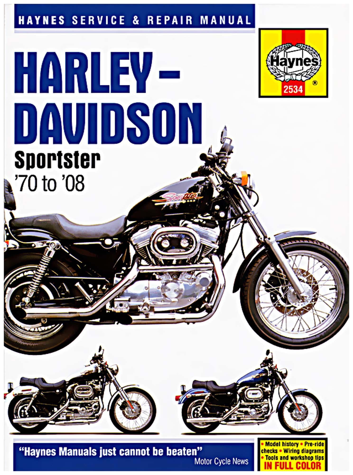 Details about Haynes Service Repair Manual Harley Davidson Sportster on