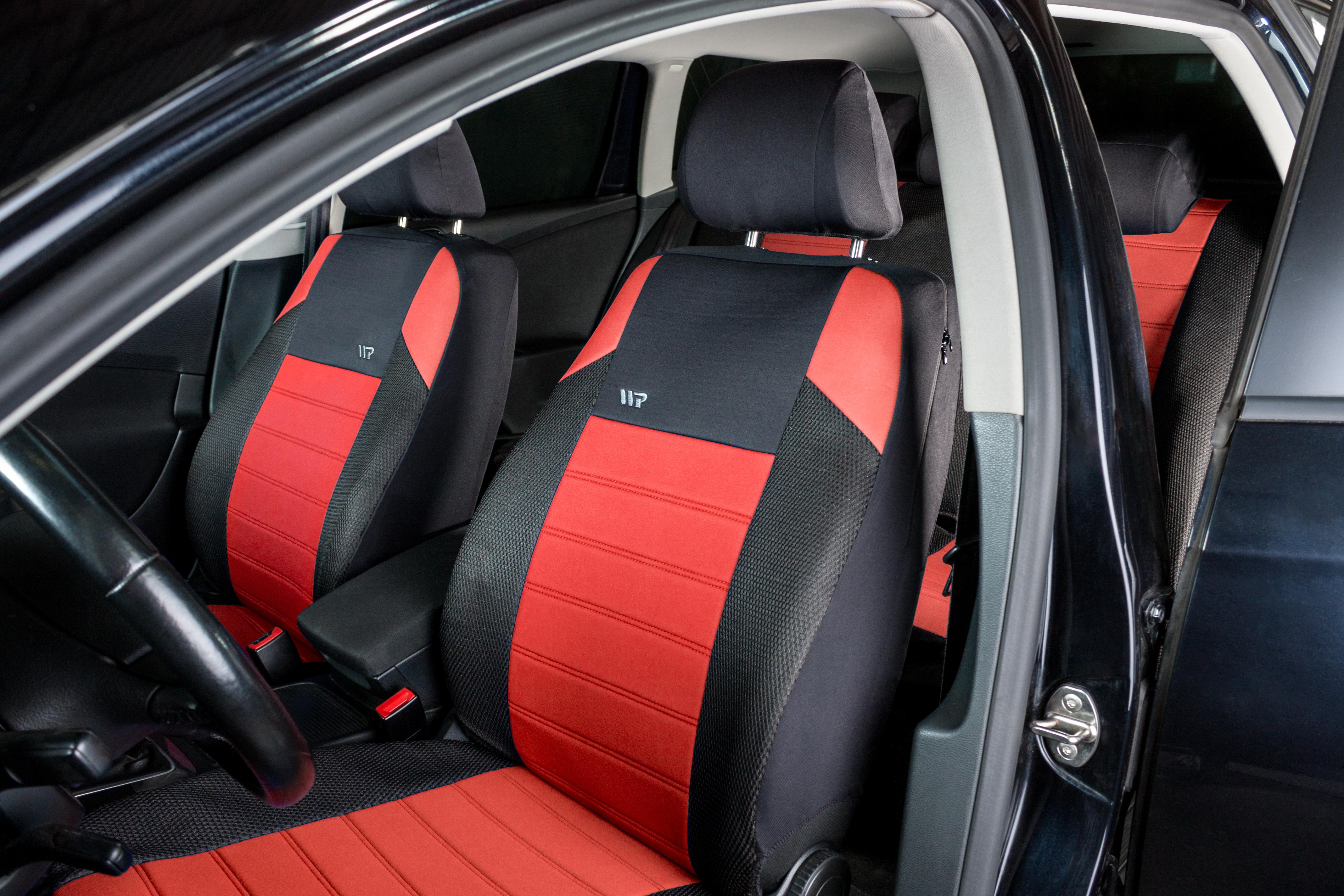 Ripspeed Interior Protecting Protector Padded Car Seat Covers Full Set Red
