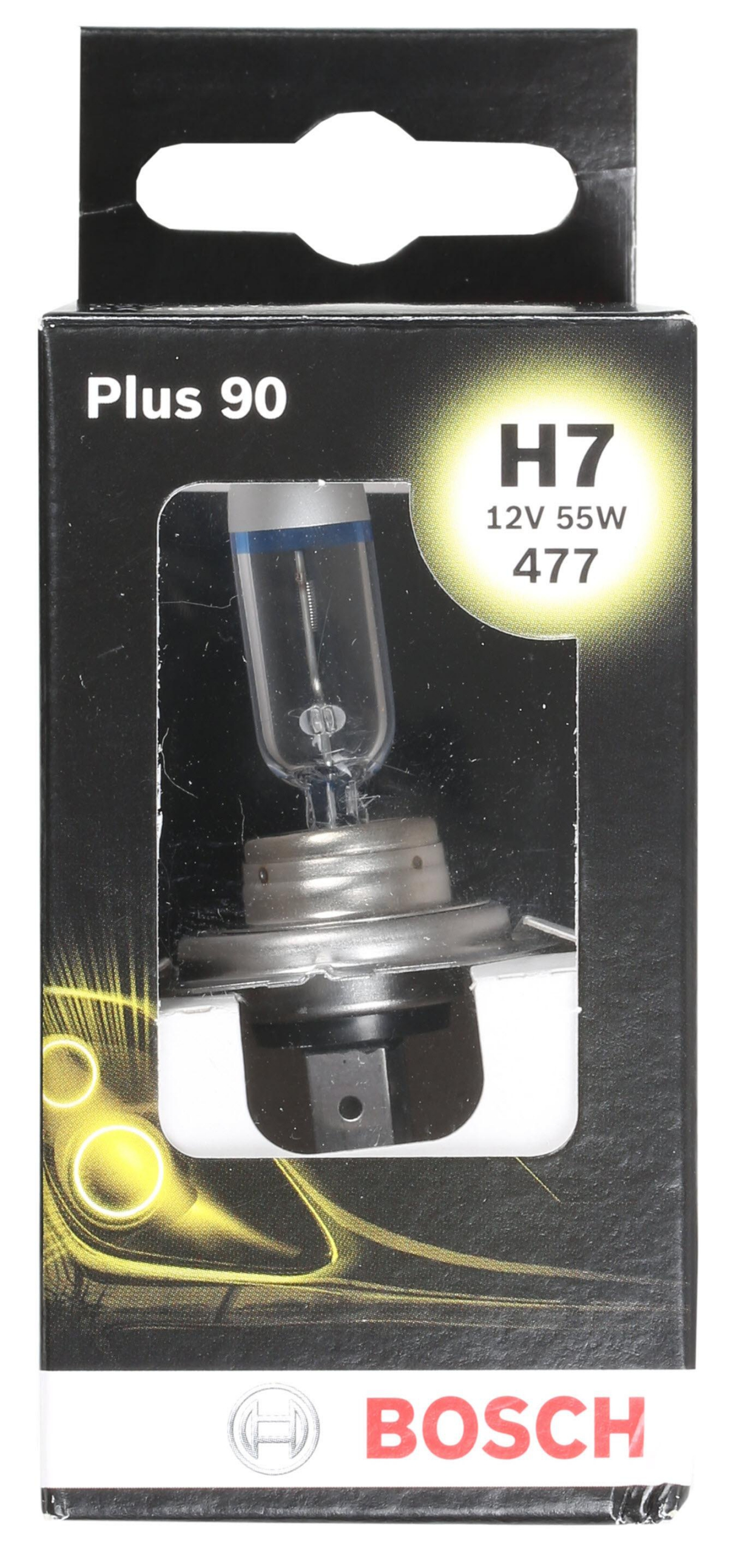bosch plus 90 car front headlamp bulb 477 x1 h7 55w 12v. Black Bedroom Furniture Sets. Home Design Ideas