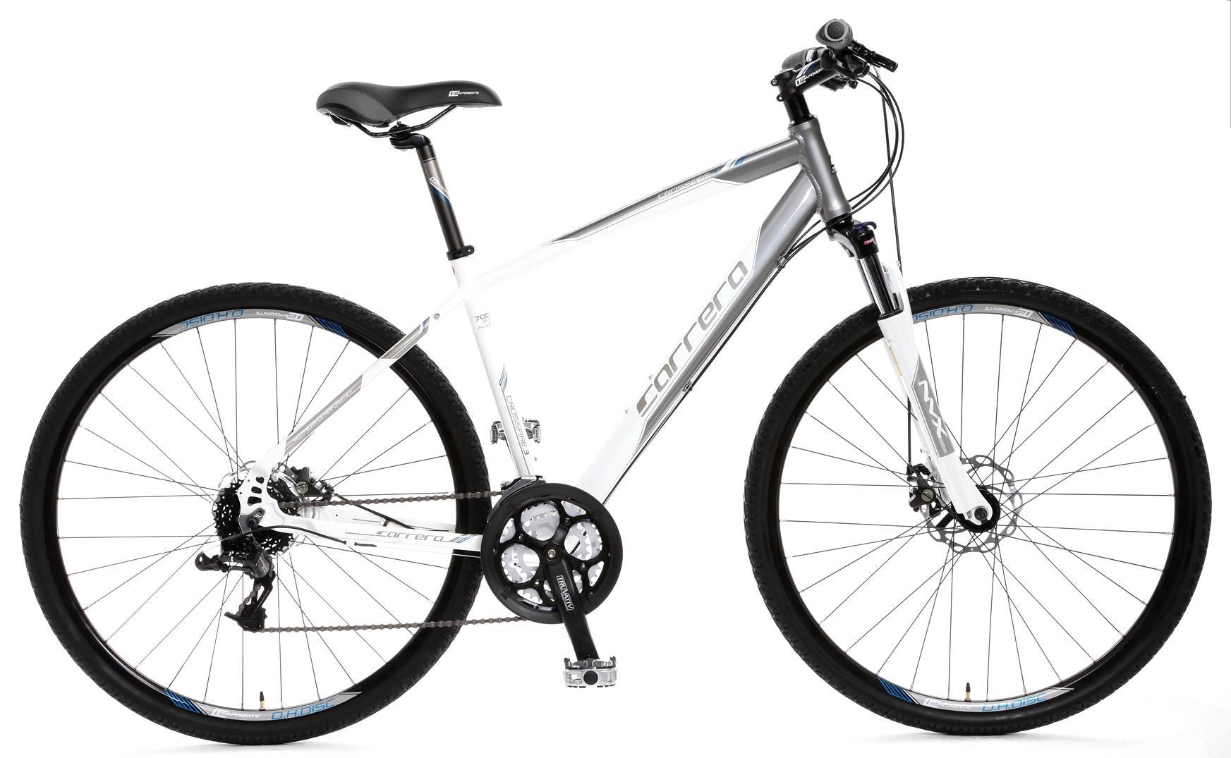 Details about Carrera Crossfire 3 Mens Hybrid Bike 17