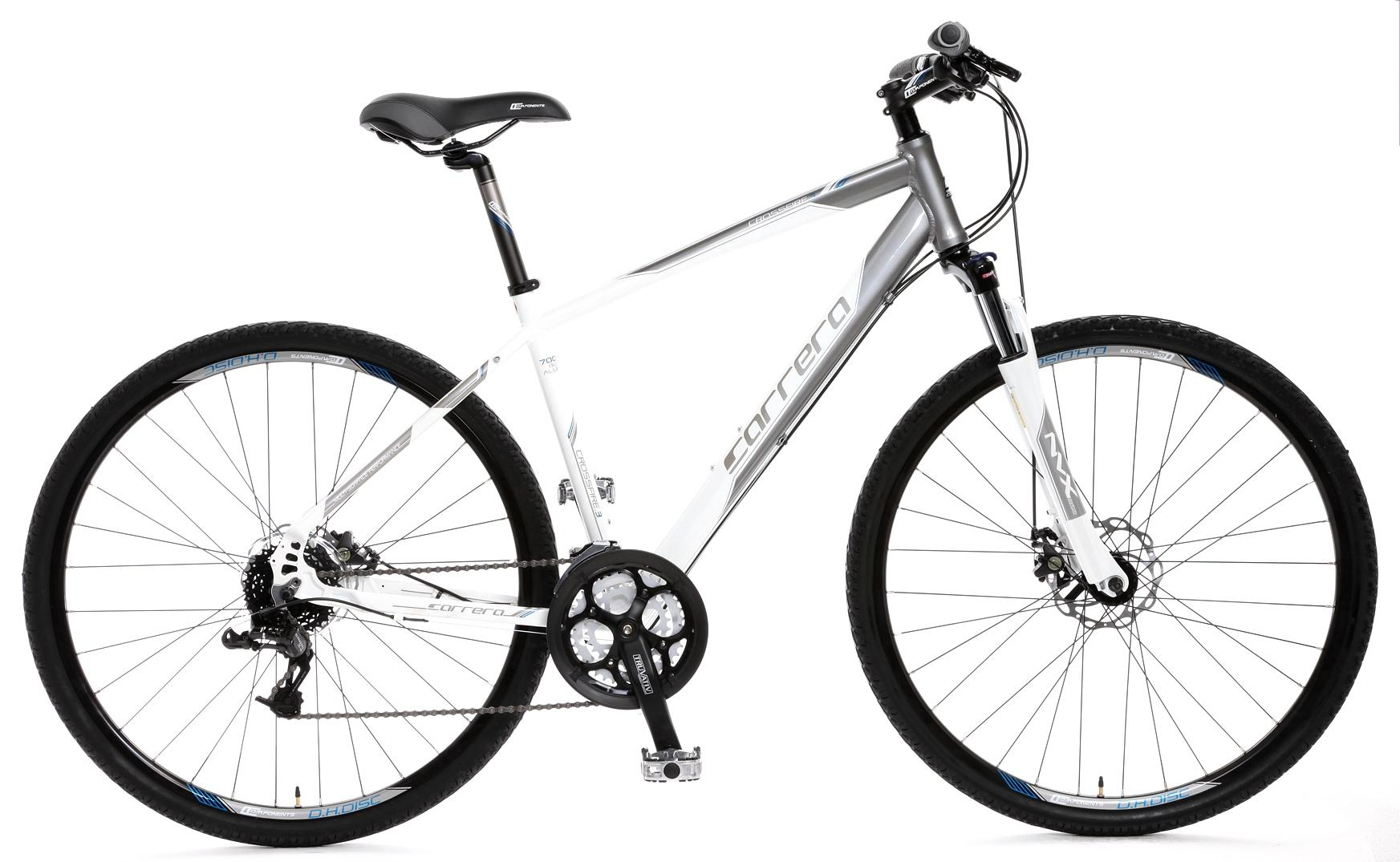 Details about Carrera Crossfire 3 Mens Hybrid Bike 19
