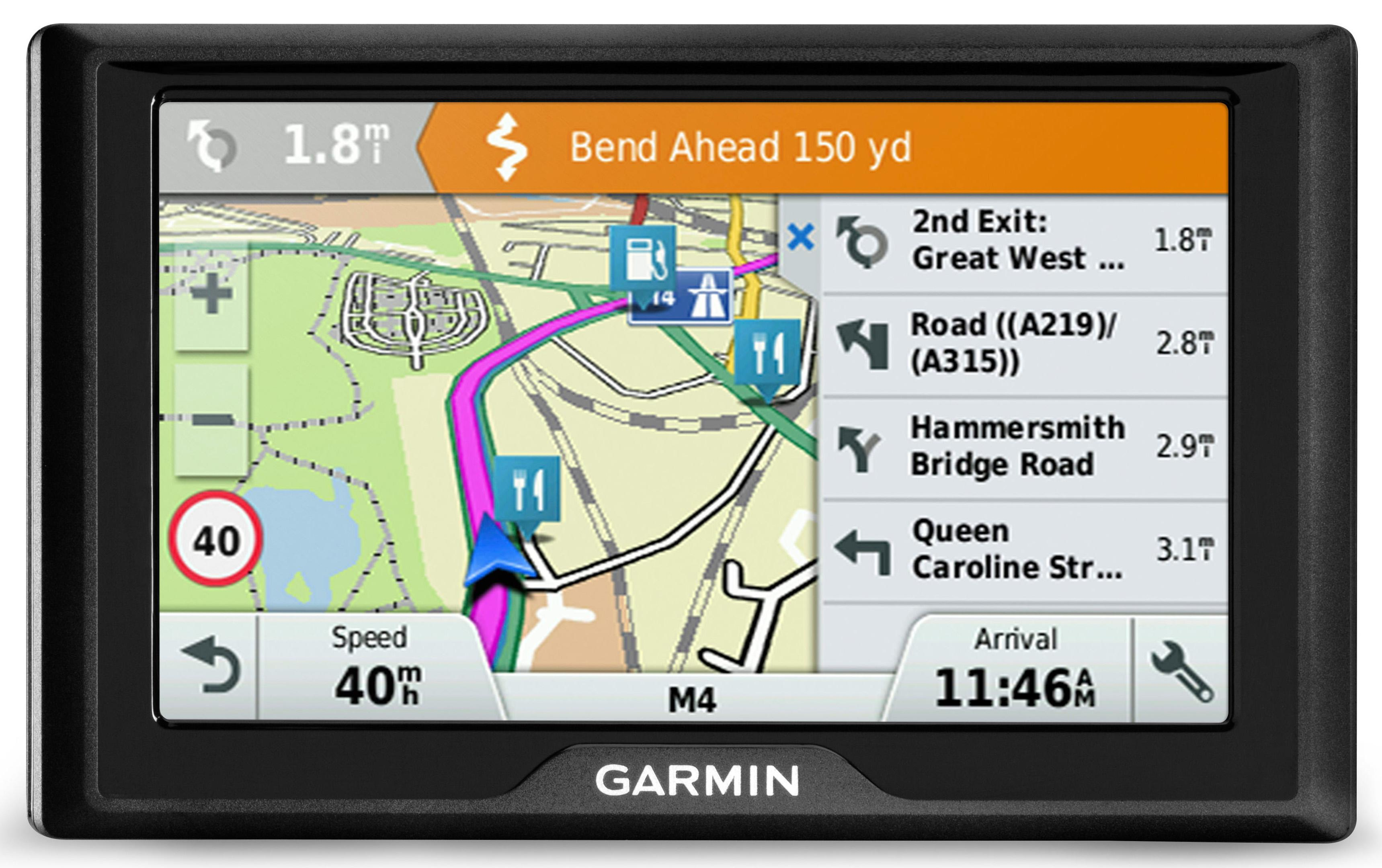 garmin drive 40 lm 4 3 sat nav gps uk roi lifetime maps. Black Bedroom Furniture Sets. Home Design Ideas