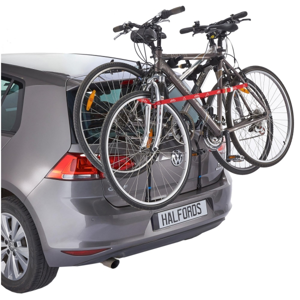 Details about Halfords Essentials Universal Car Rear Low Mounted Rack 2  Bike Cycle Carrier