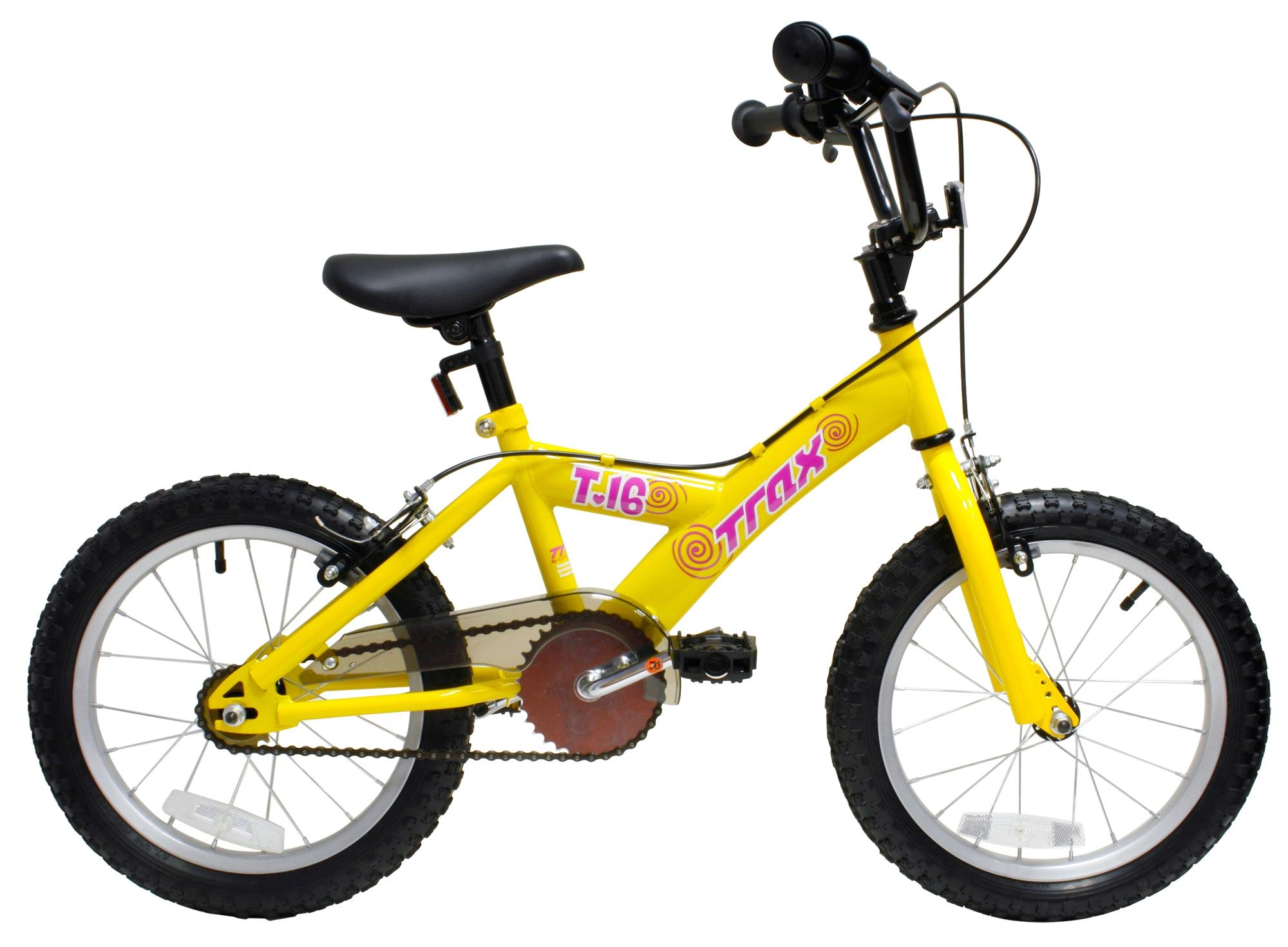 Trax T.16 Girls Kids Childrens Bike Yellow Steel Frame 16\