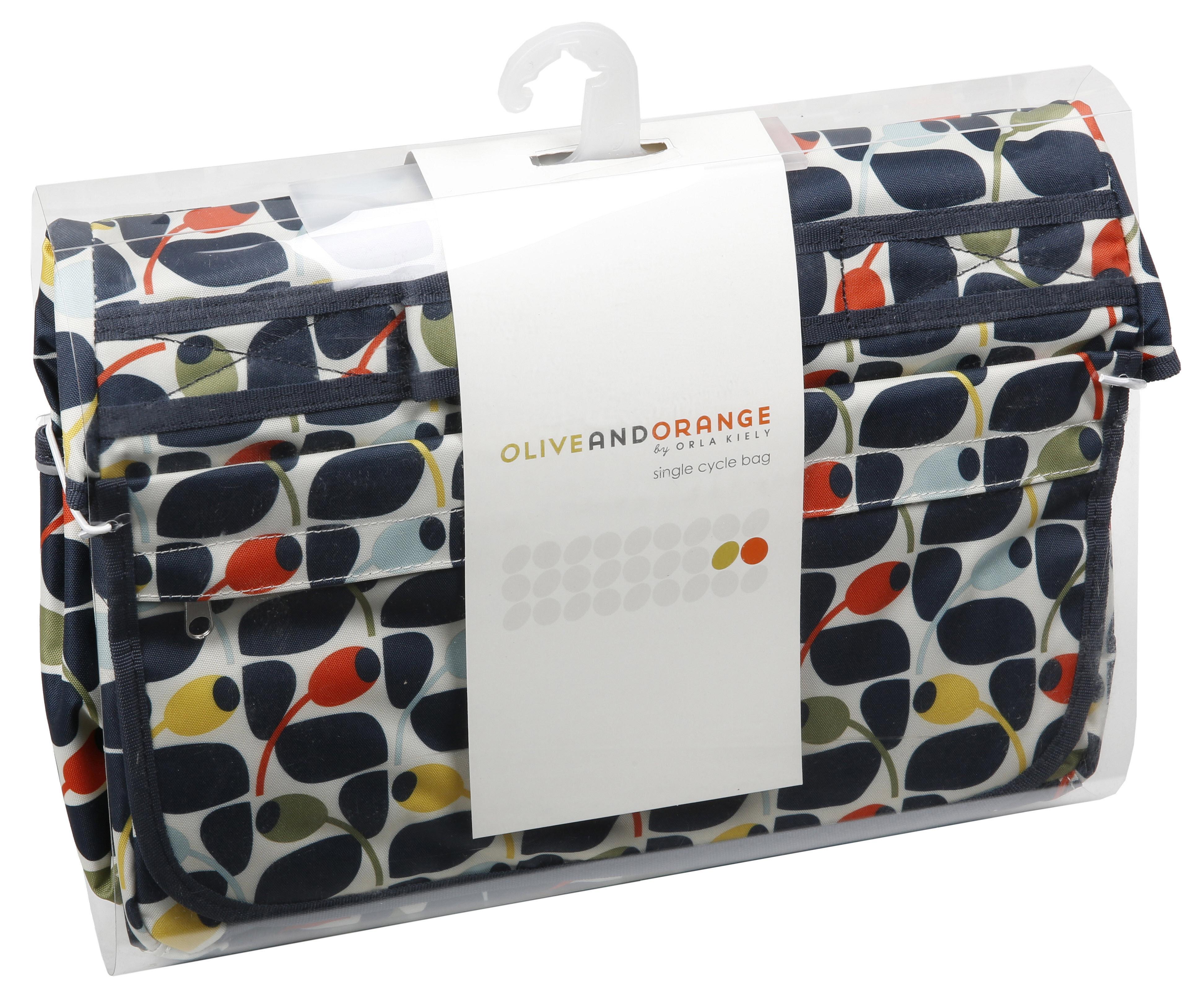 Olive And Orange By Orla Kiely Waterproof Cycling Bike Bicycle Pannier Bag 5054277205526 Ebay
