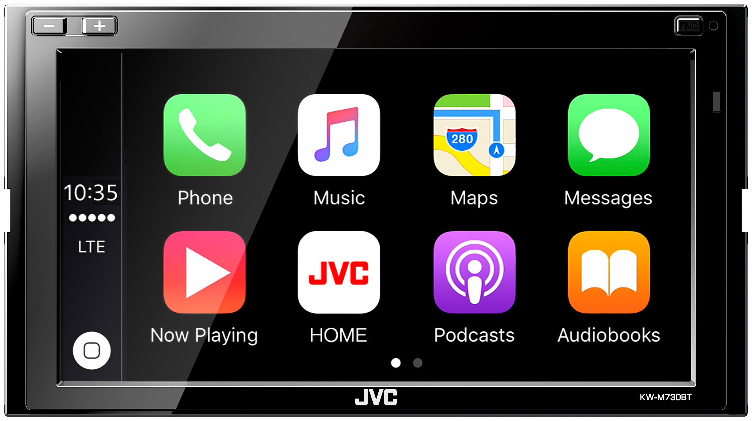 """JVC KW-M730BT 6.8"""" Touch Screen Car Stereo With Carplay"""
