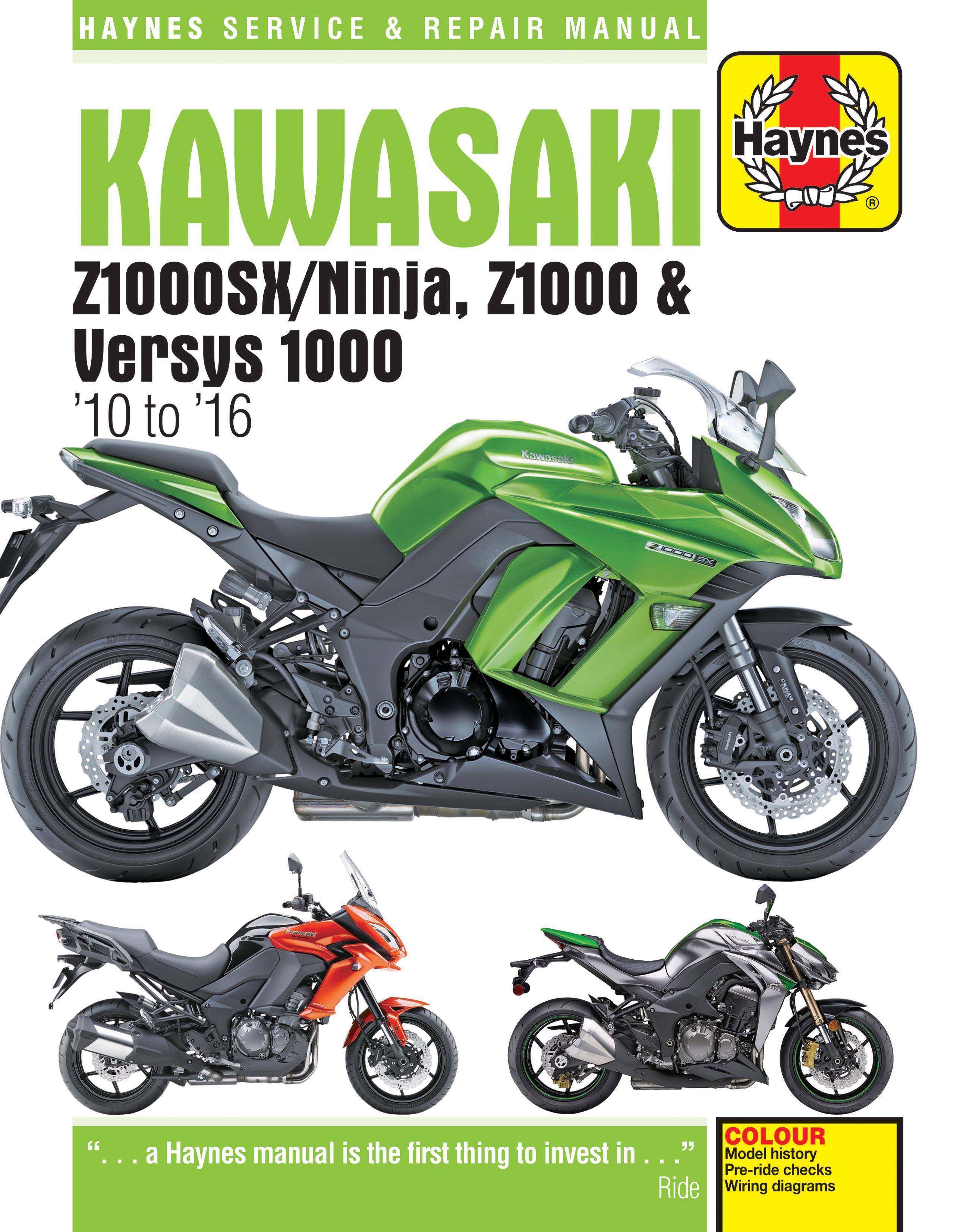 Haynes Kawasaki Z1000sx Ninjaz1000 Versys 1000 10 16service Wiring Diagrams Repair Manual