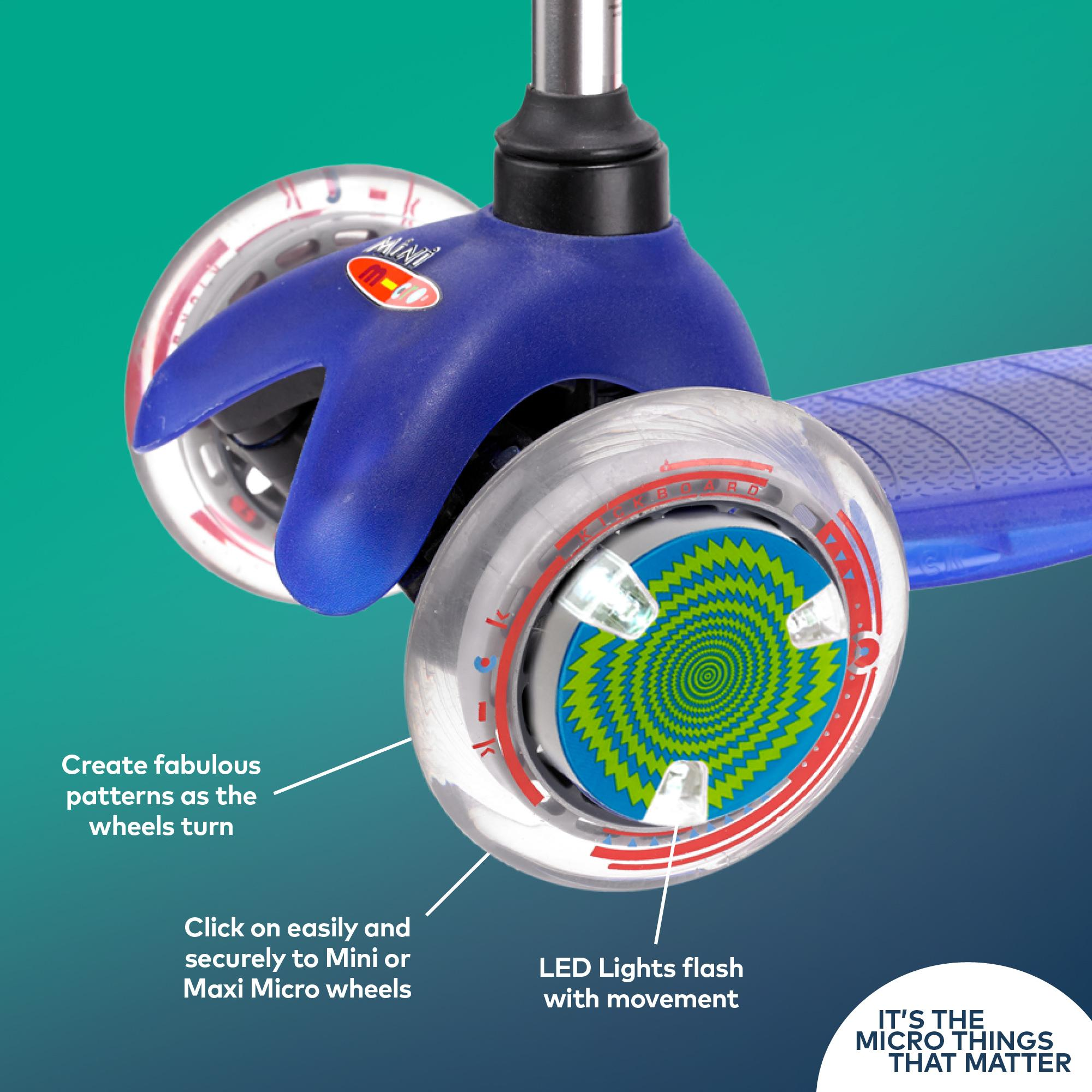Micro Scooter Wheel Whizzer LED Safety Light 40h Battery Life Blue-Green