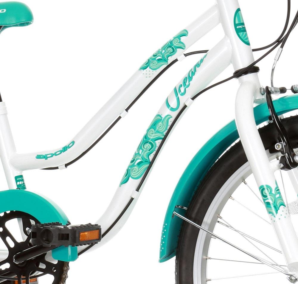 eefc3010ae0 Apollo Oceana Girls Kids Childrens Hybrid Bike 6 Speed 20