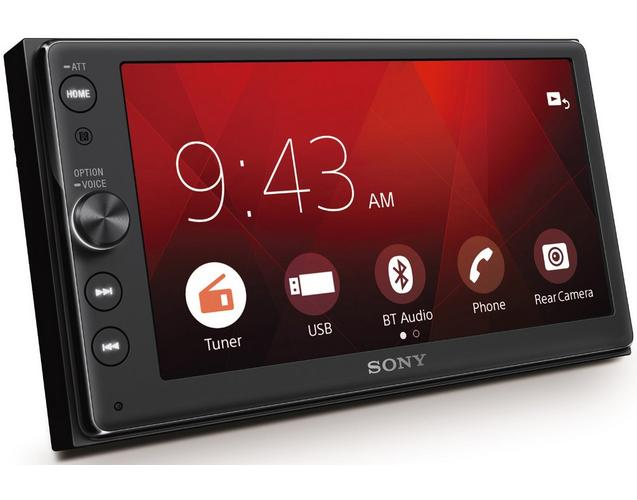 sony xav ax100 6 4 car stereo apple carplay android auto. Black Bedroom Furniture Sets. Home Design Ideas