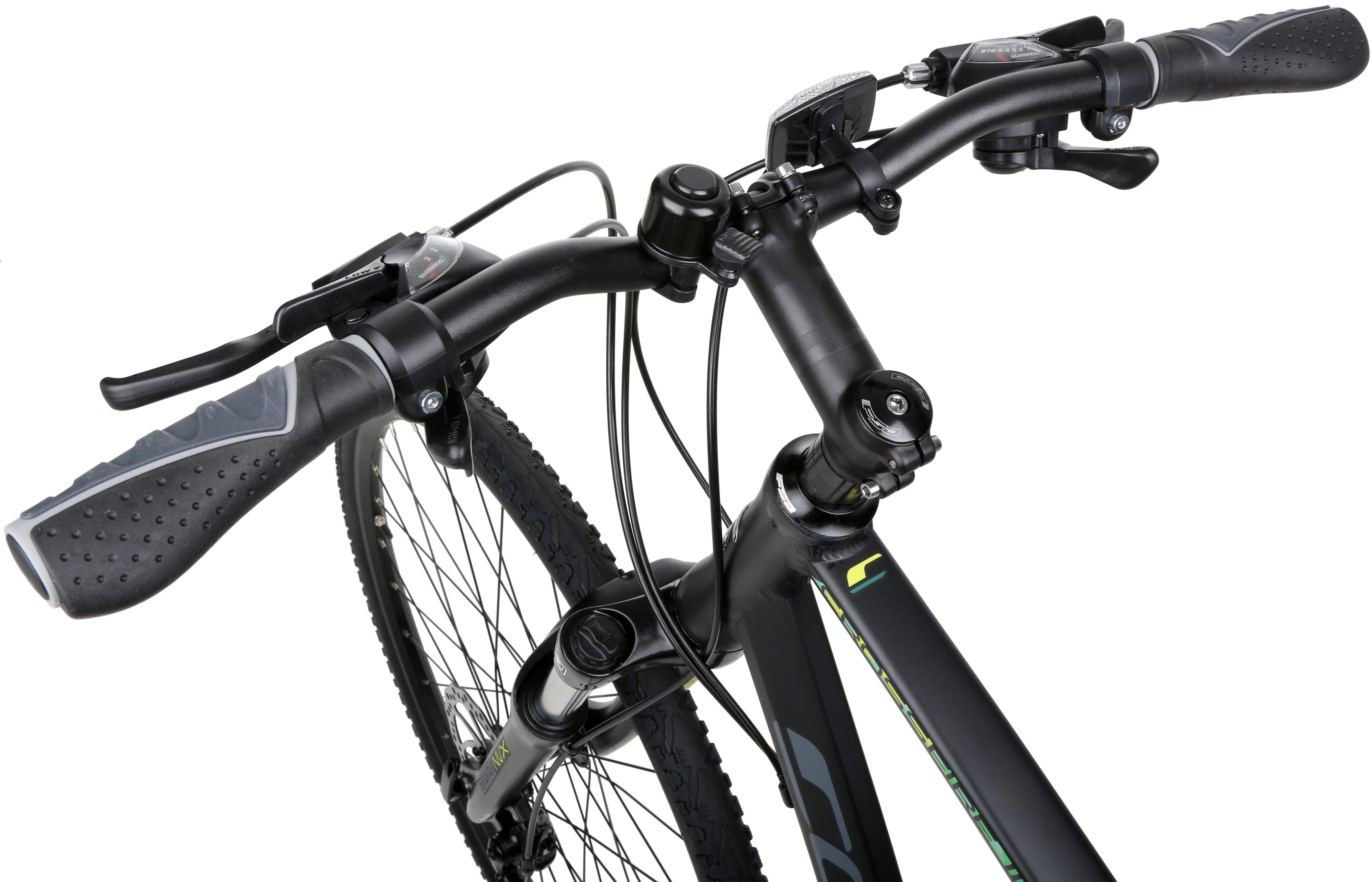Details about Carrera Crossfire 2 Mens Hybrid Bike Bicycle 24 Gears Shimano  700C Wheels Black