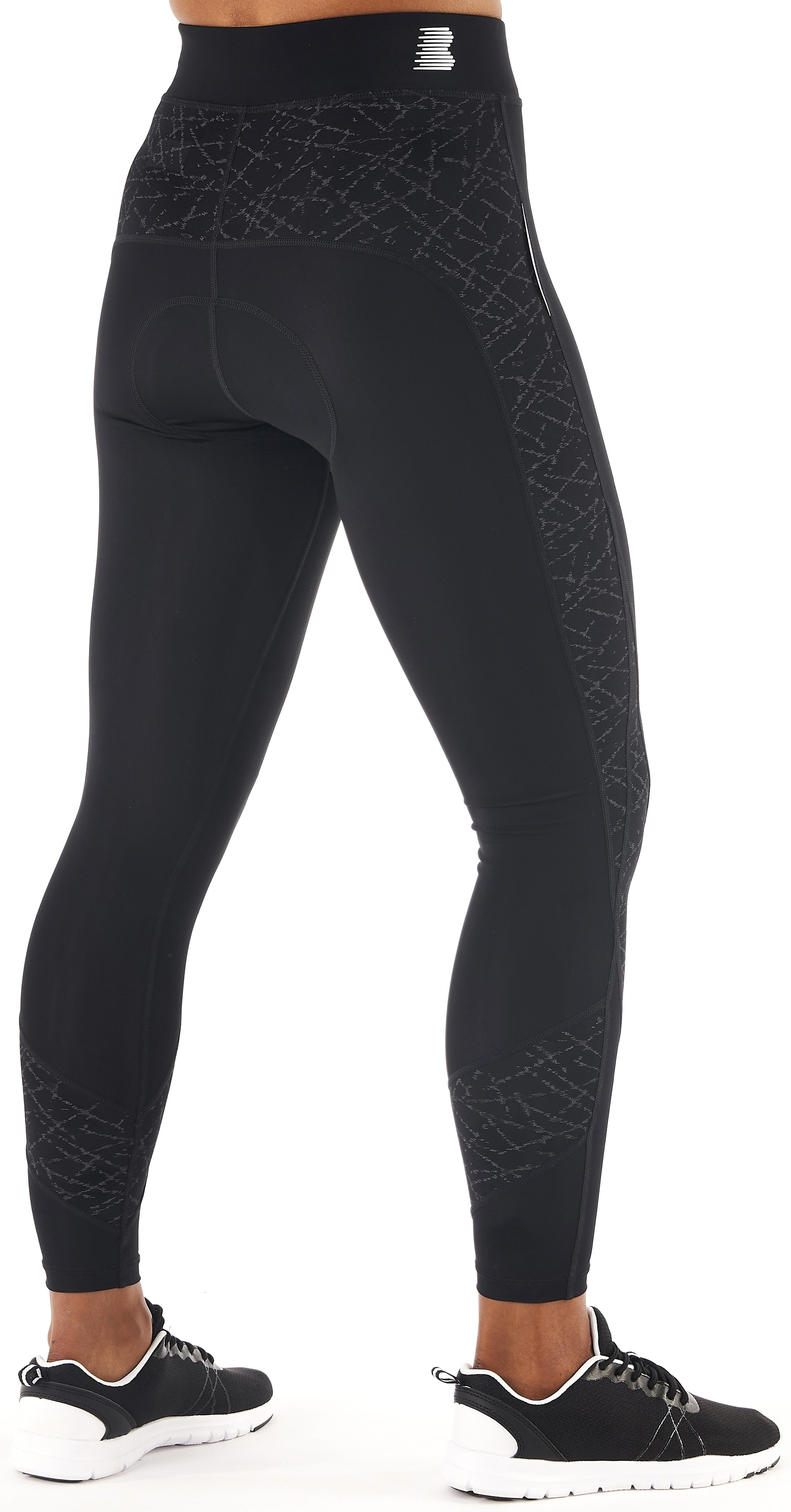 1ccdc70f198 Boardman Womens Ladies Thermal Tights Reflective Pattern Chamois Pad ...