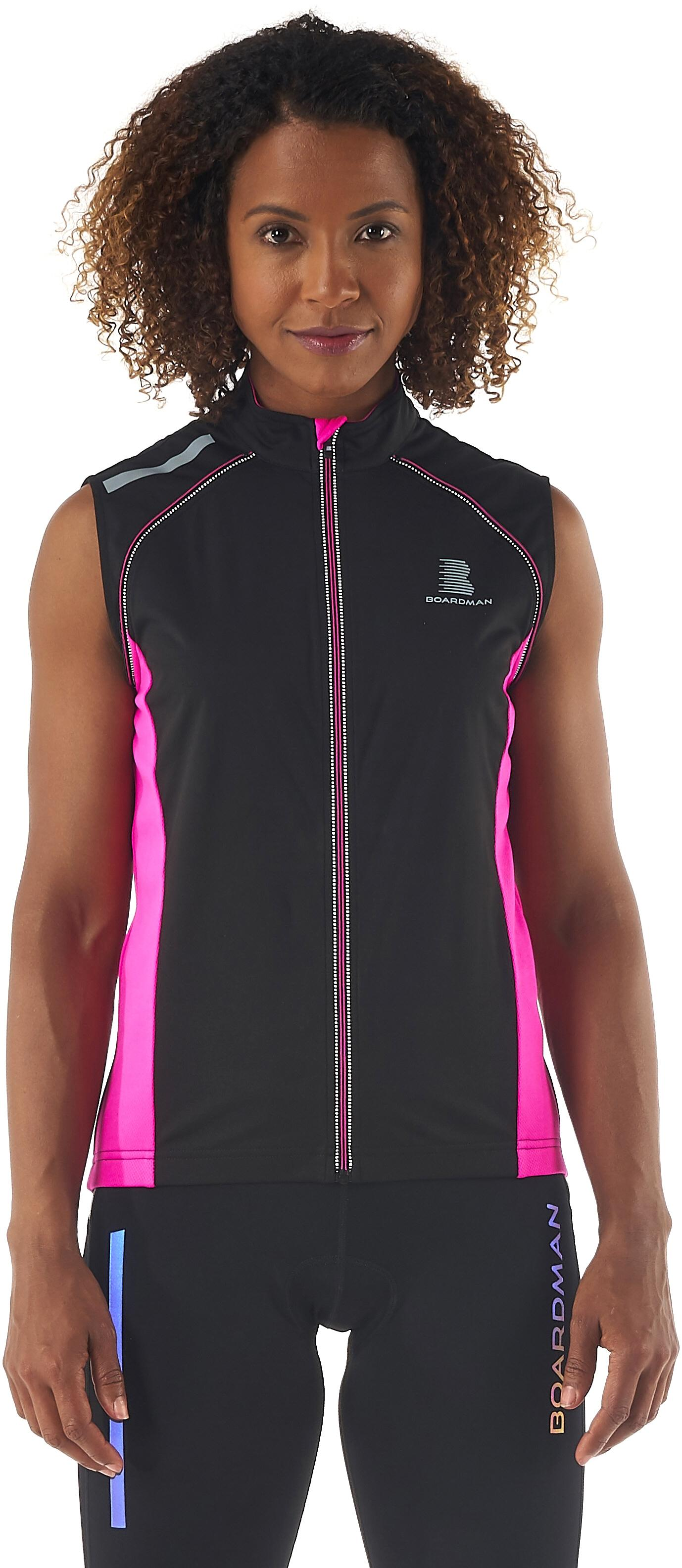Boardman Womens Windproof Removable Long Sleeve Zip Cycling Jacket